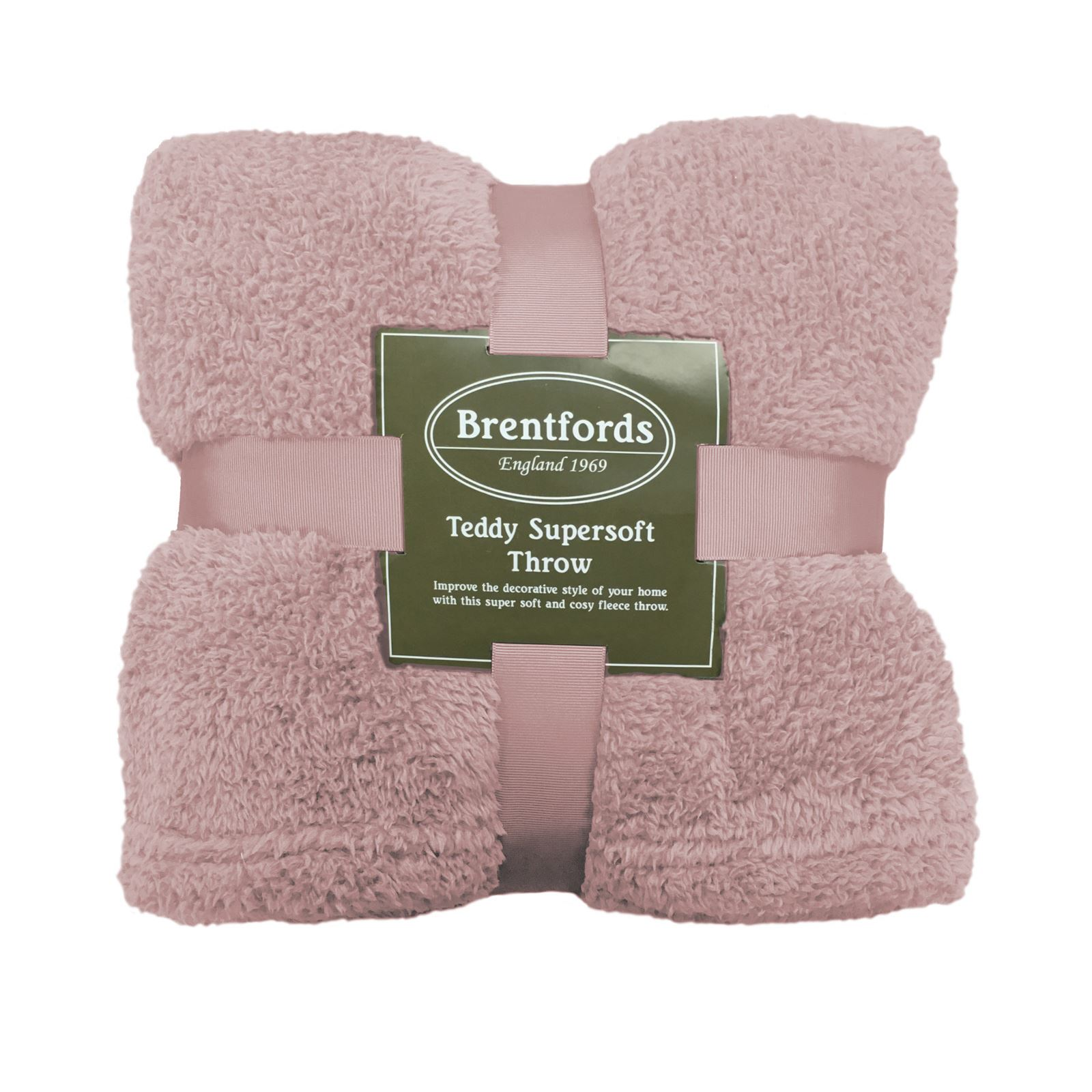 thumbnail 10 - Brentfords Teddy Fleece Bear Blanket Large Throw Over Bed Plush Soft Bedspread
