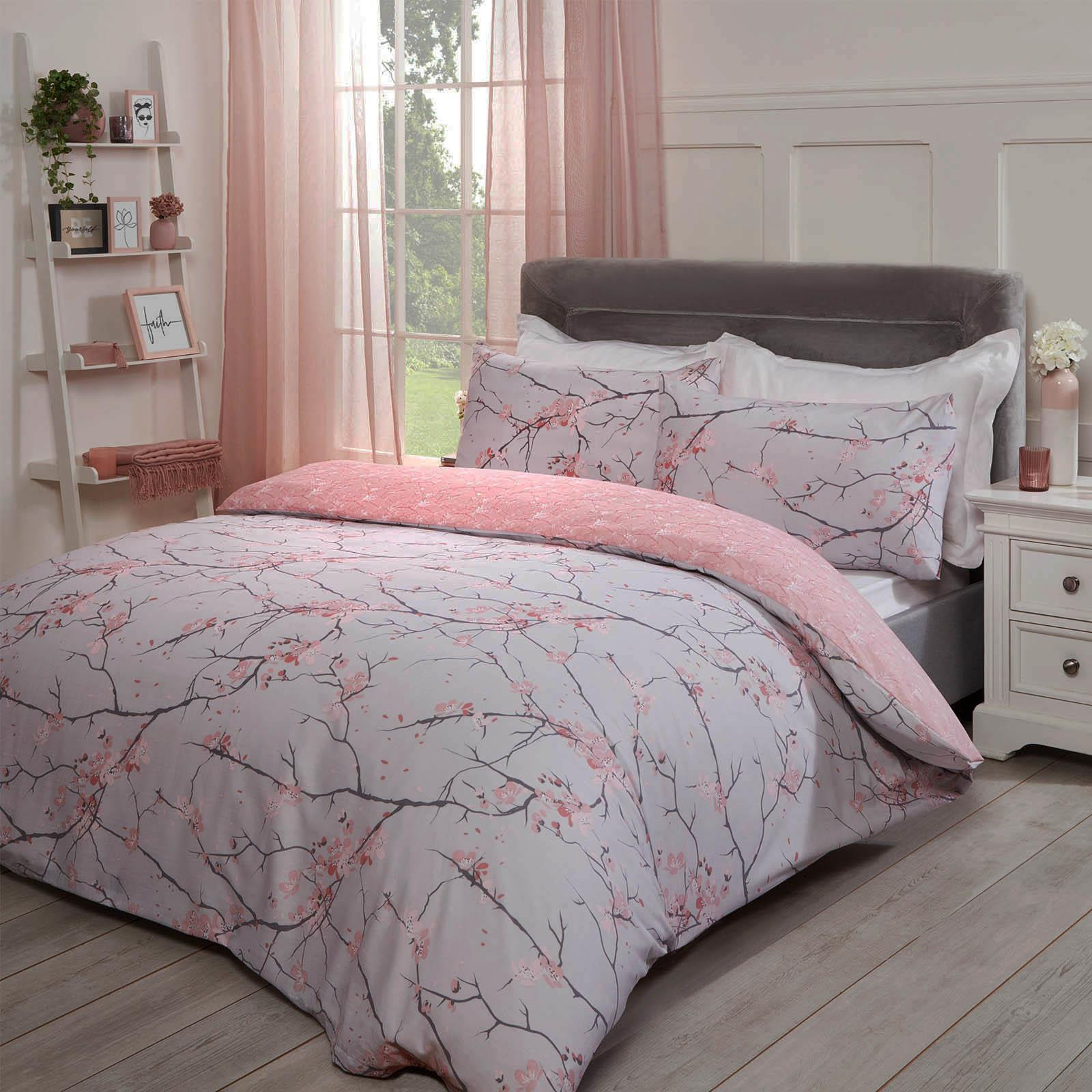 thumbnail 5 - Dreamscene Spring Blossoms Duvet Cover with Pillowcases Bedding Set Blush Ochre