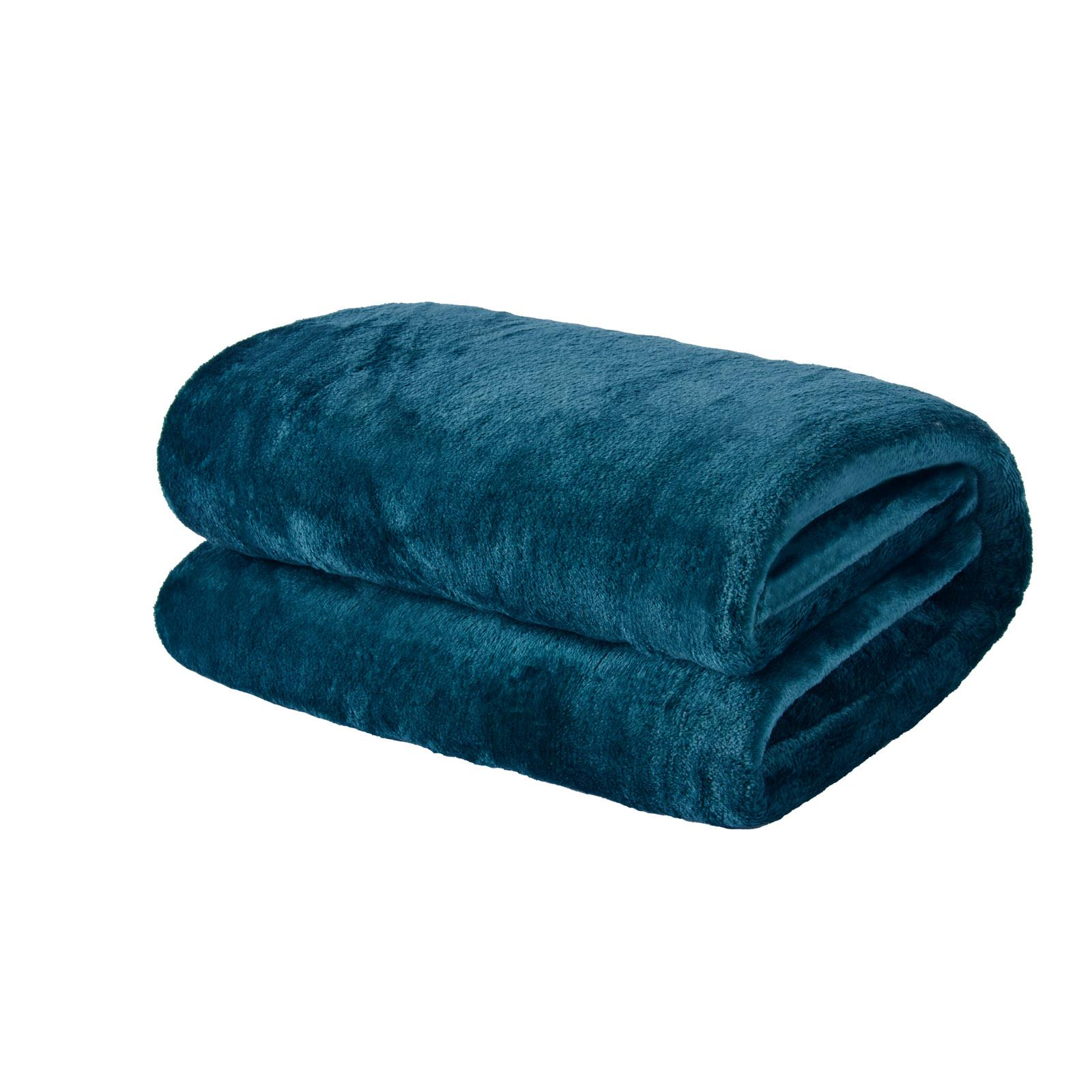 thumbnail 27 - Brentfords Large Flannel Fleece Bed Blanket Warm Throw Over Ultra Soft Bed Sofa
