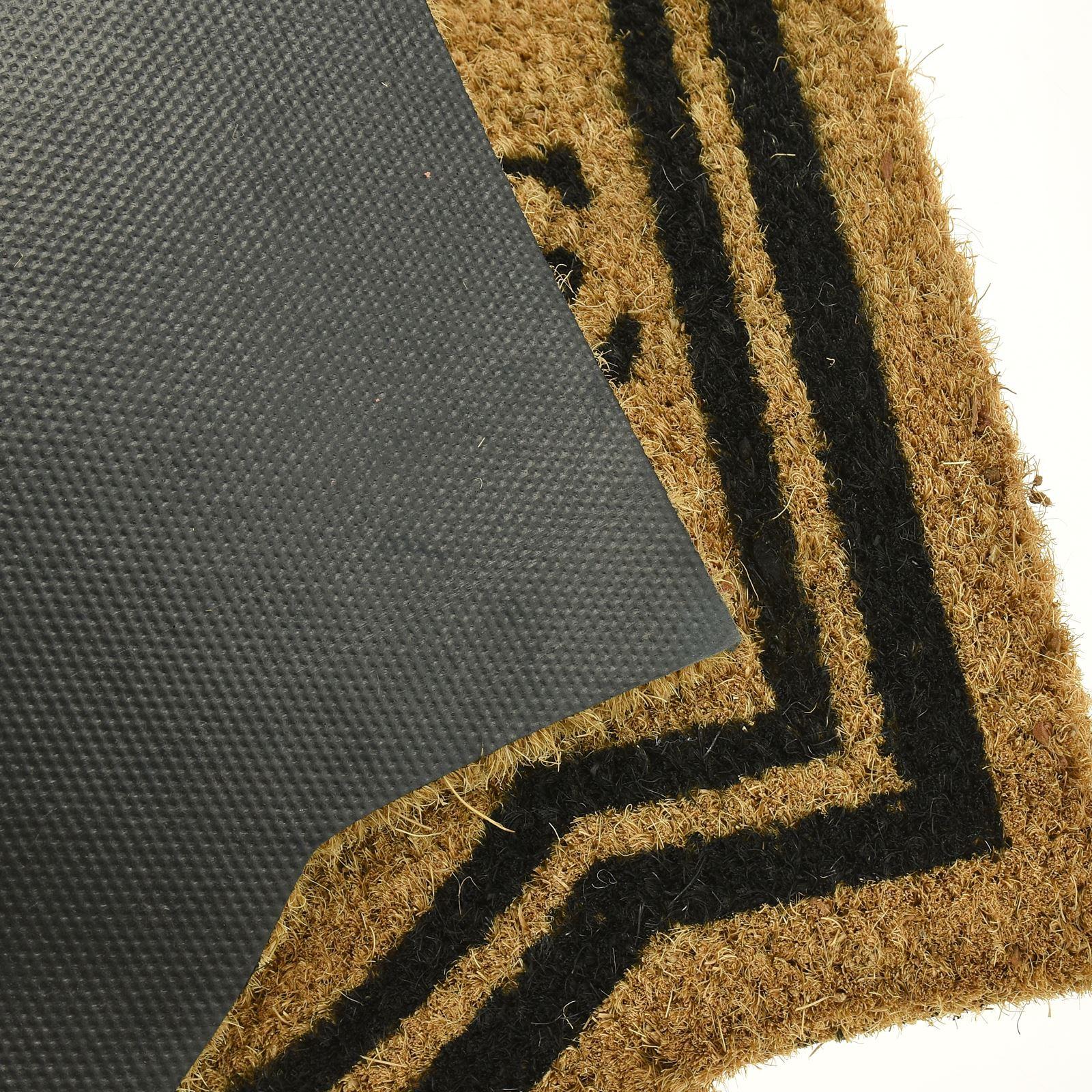 Plain-Non-Slip-Door-Mat-Tough-Natural-Coir-PVC-Back-Welcome-Doormat-40-x-60cm miniatura 118