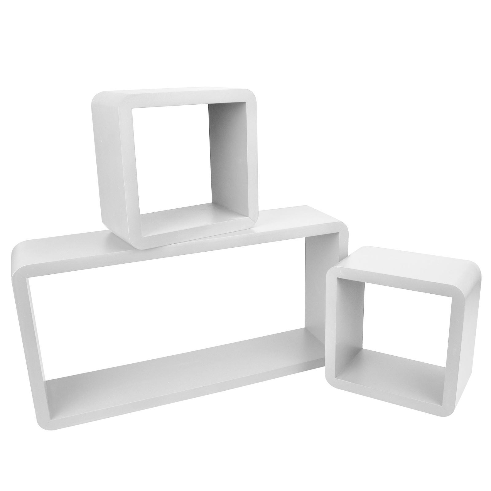 3pc-Set-Rectangle-Floating-Shelves-Wall-Mount-Storage-Book-Shelf-DVD-CD-Stand thumbnail 25