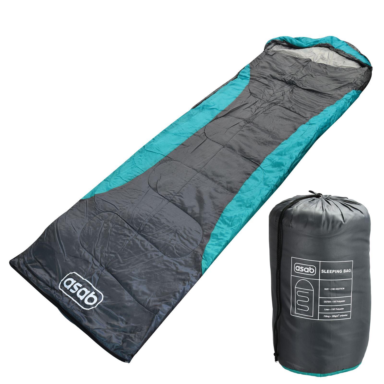 ASAB 200gsm saison 3 momie forme sac de couchage à à à Capuche Double Zip Chaud Camp Festival 5f0936