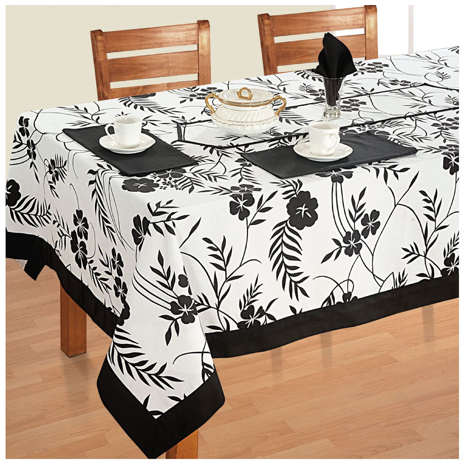 Dining Room Table Linens: Dinner Party Table Linen Set 6 Seater Kitchen Dining