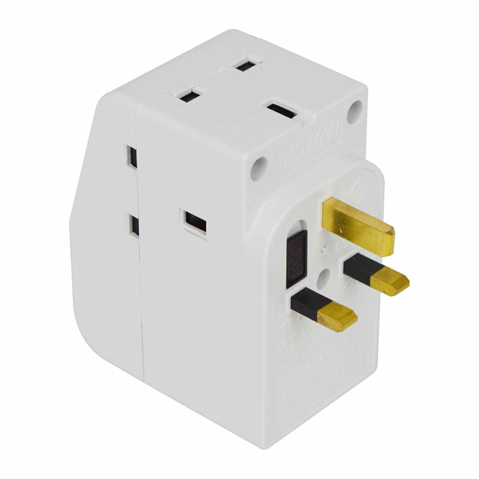 Multi Plug Extension Lead 2 3 4 5 Gang Way Uk Mains Socket Cable Wiring Wall