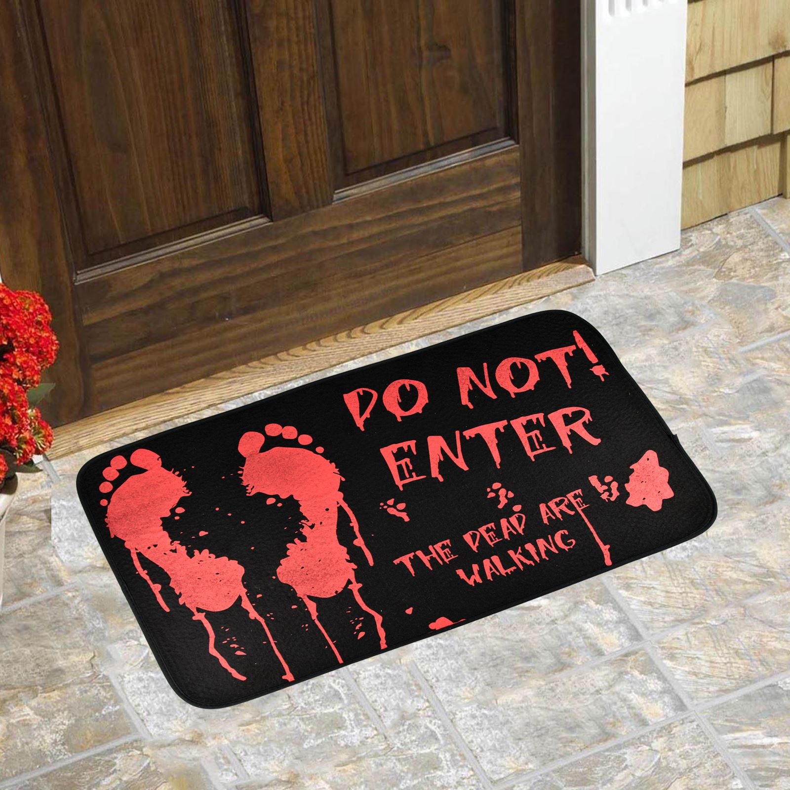 halloween doormat spooky scary trick or treat door mat novelty house