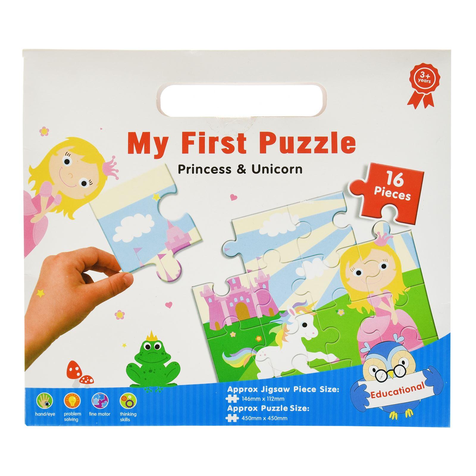 16pc-Mon-Premier-Puzzle-Enfants-educatif-Problem-Solving-jeu-jouet miniature 7