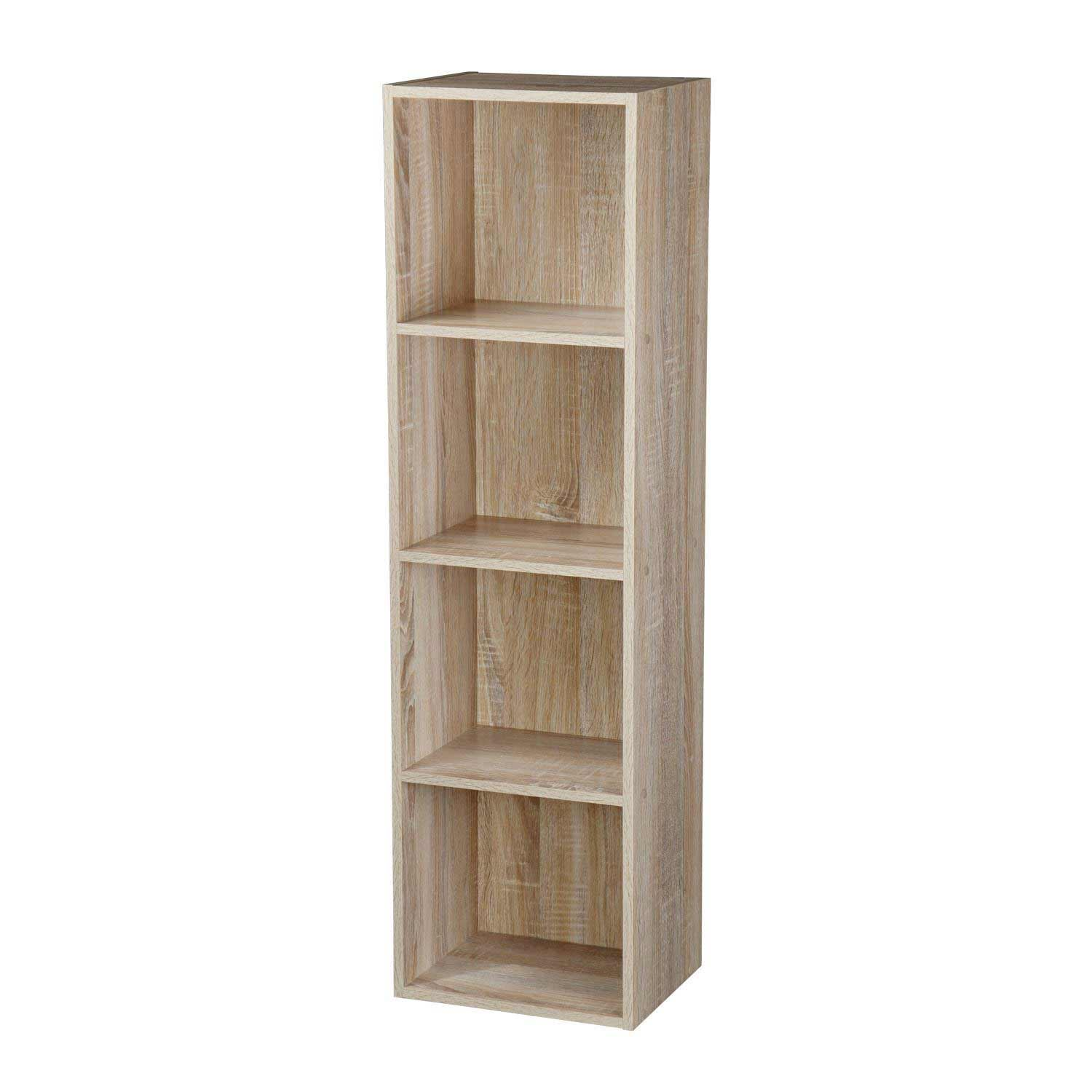 Wooden-Storage-Unit-Cube-2-3-4-Tier-Strong-Bookcase-Shelving-Home-Office-Display thumbnail 13