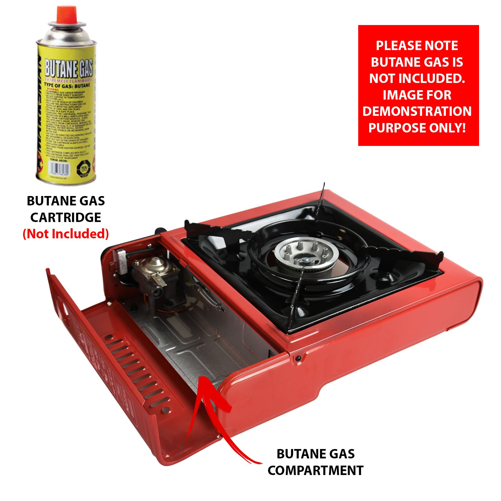 portable camping gas cooker stove single burner carry bag. Black Bedroom Furniture Sets. Home Design Ideas