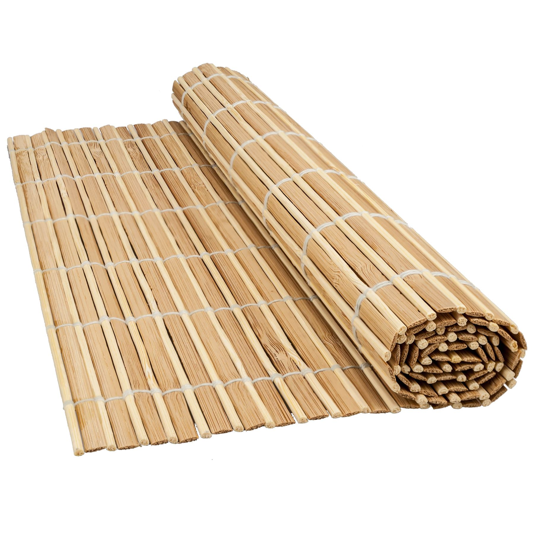 Bamboo Wood Table Placemats Large Serving Dining Roll