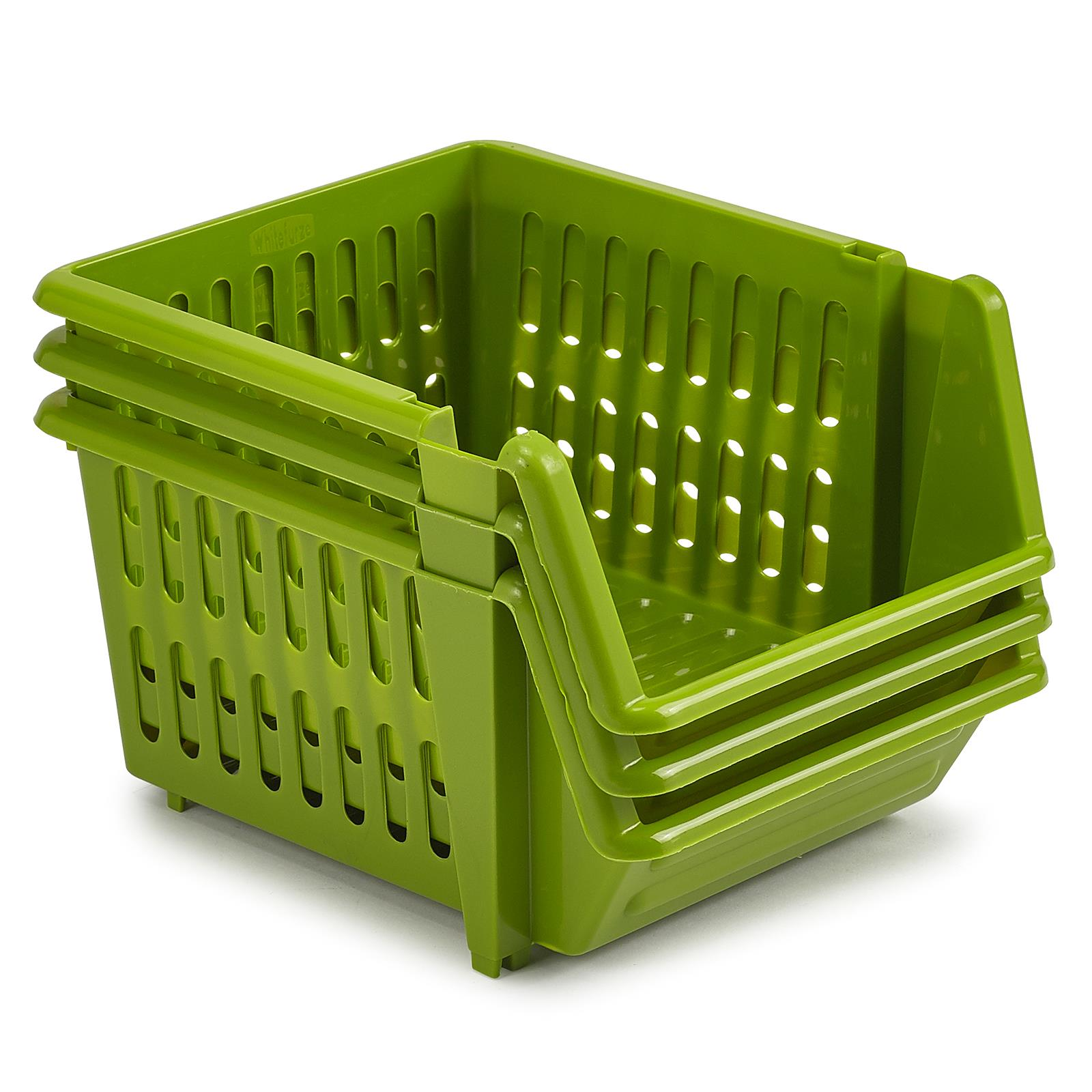 3-Tier-Plastic-Stacking-Basket-Set-Kitchen-Office-Storage-Rack-Stackable-Boxes thumbnail 8