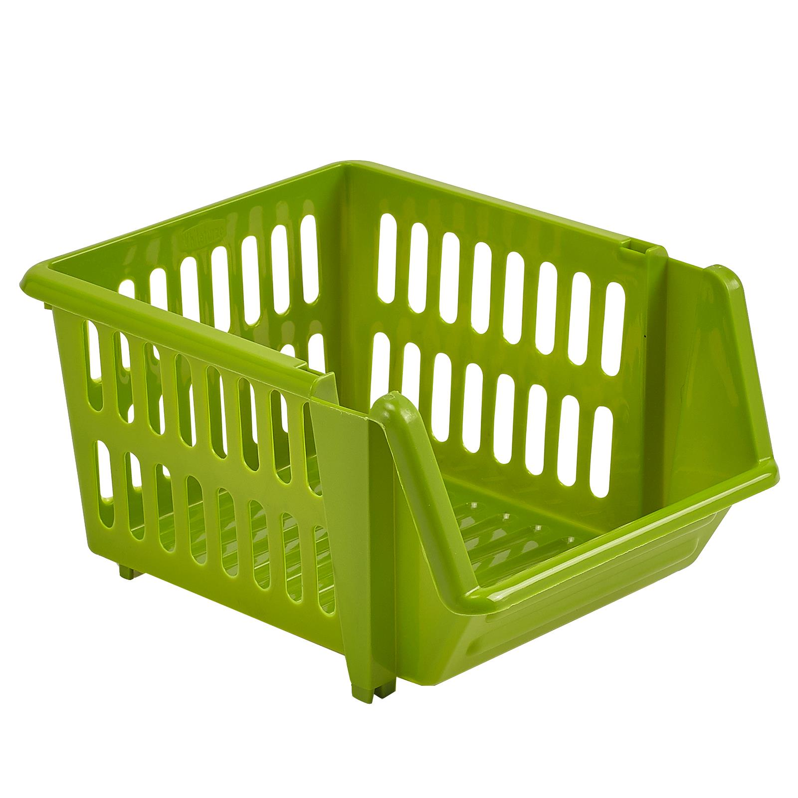 3-Tier-Plastic-Stacking-Basket-Set-Kitchen-Office-Storage-Rack-Stackable-Boxes thumbnail 7