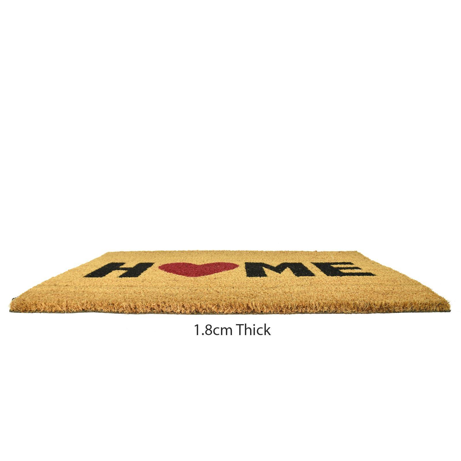 Plain-Non-Slip-Door-Mat-Tough-Natural-Coir-PVC-Back-Welcome-Doormat-40-x-60cm miniatura 52