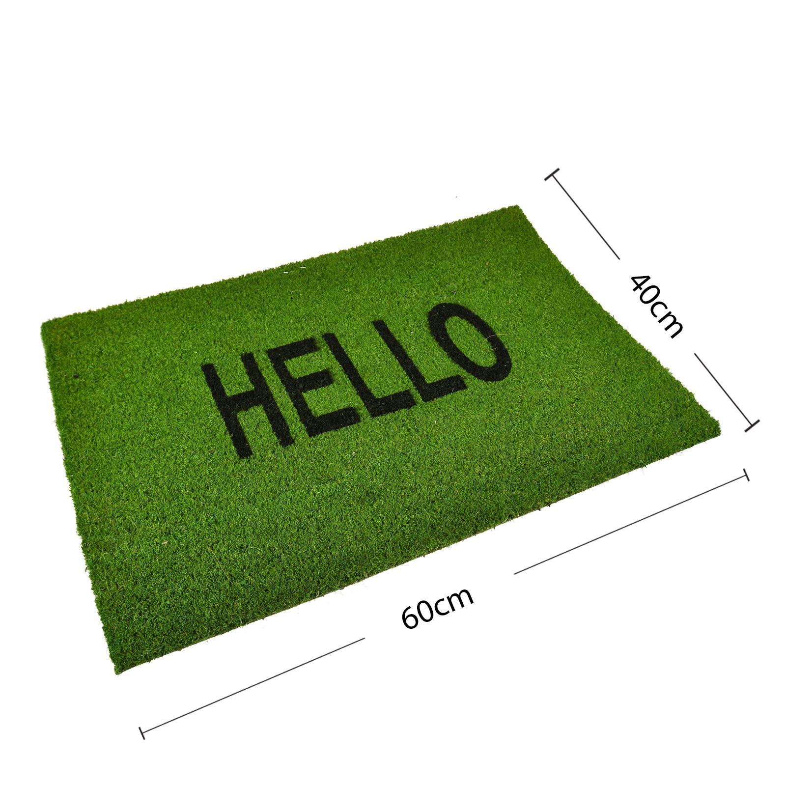 Plain-Non-Slip-Door-Mat-Tough-Natural-Coir-PVC-Back-Welcome-Doormat-40-x-60cm miniatura 65