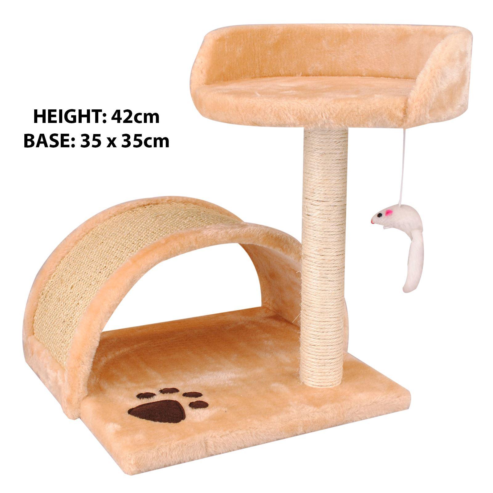 Pet-Cat-Kitten-Scratching-Post-Climbing-Tree-Bed-Rest-Platform-Play-Furniture thumbnail 6