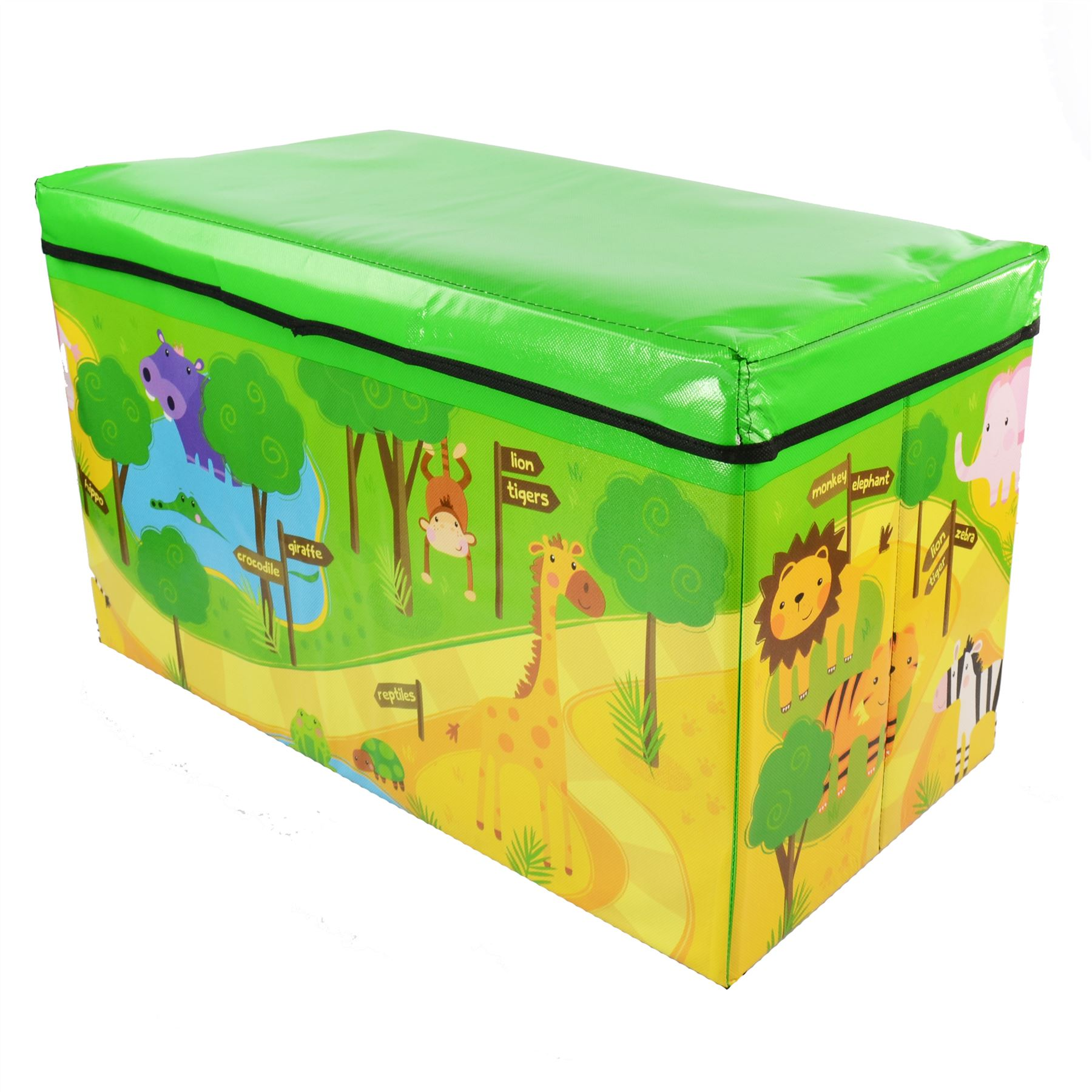 Kids Collapsible Ottoman Toy Books Box Storage Seat Chest: Boys Girls Kids Large Folding Storage Toy Box Books Chest