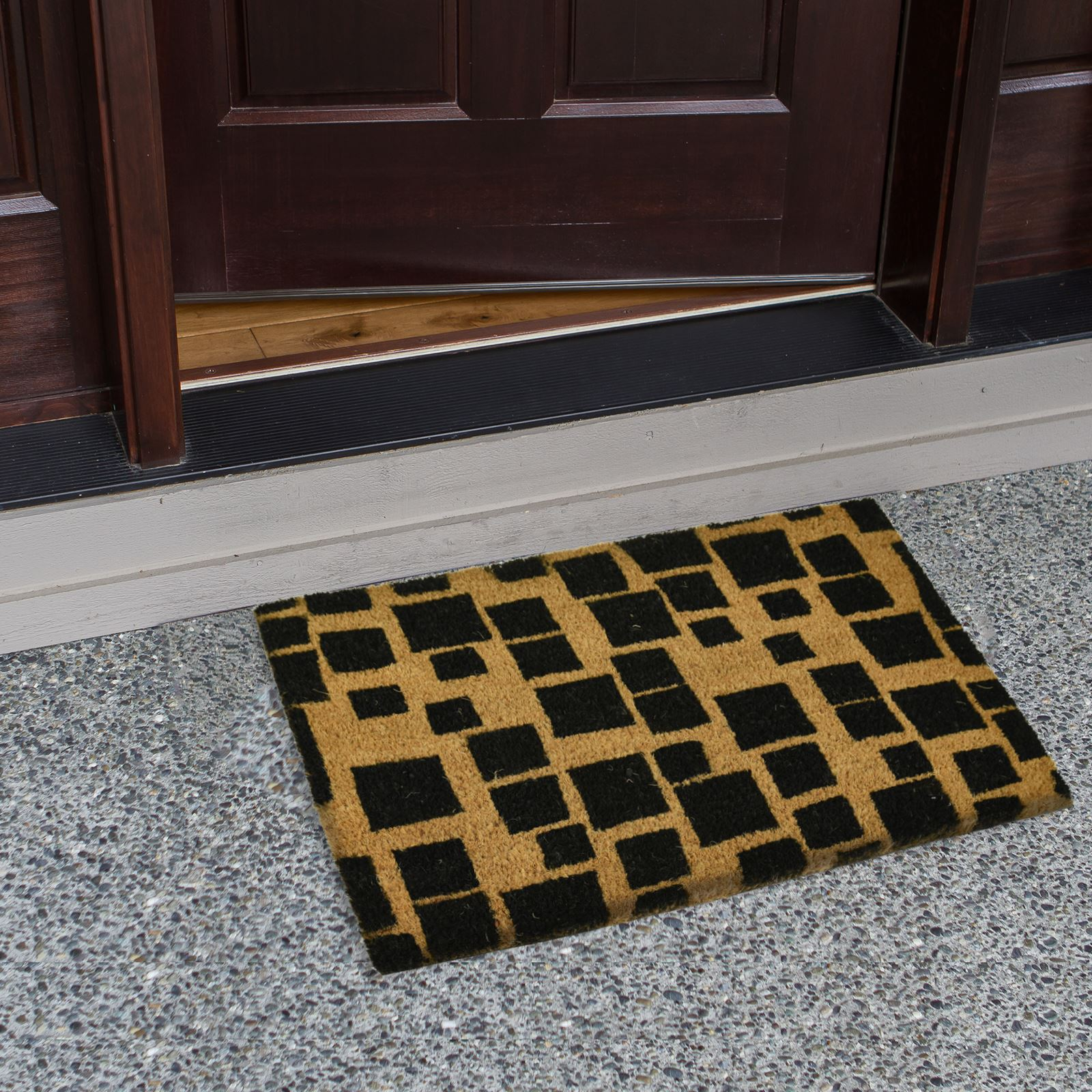 Plain-Non-Slip-Door-Mat-Tough-Natural-Coir-PVC-Back-Welcome-Doormat-40-x-60cm miniatura 20