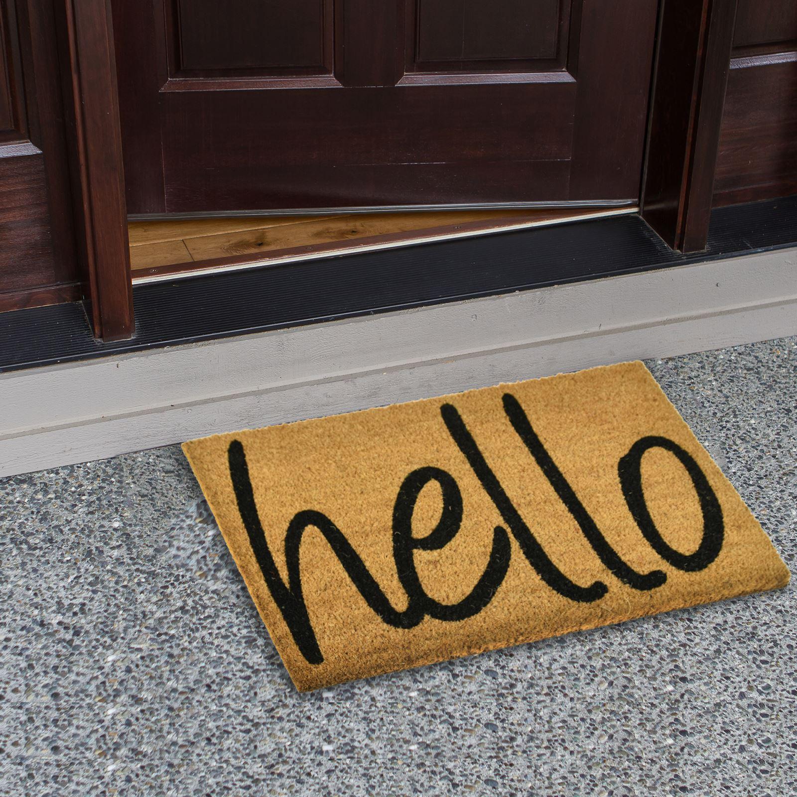 Plain-Non-Slip-Door-Mat-Tough-Natural-Coir-PVC-Back-Welcome-Doormat-40-x-60cm miniatura 59