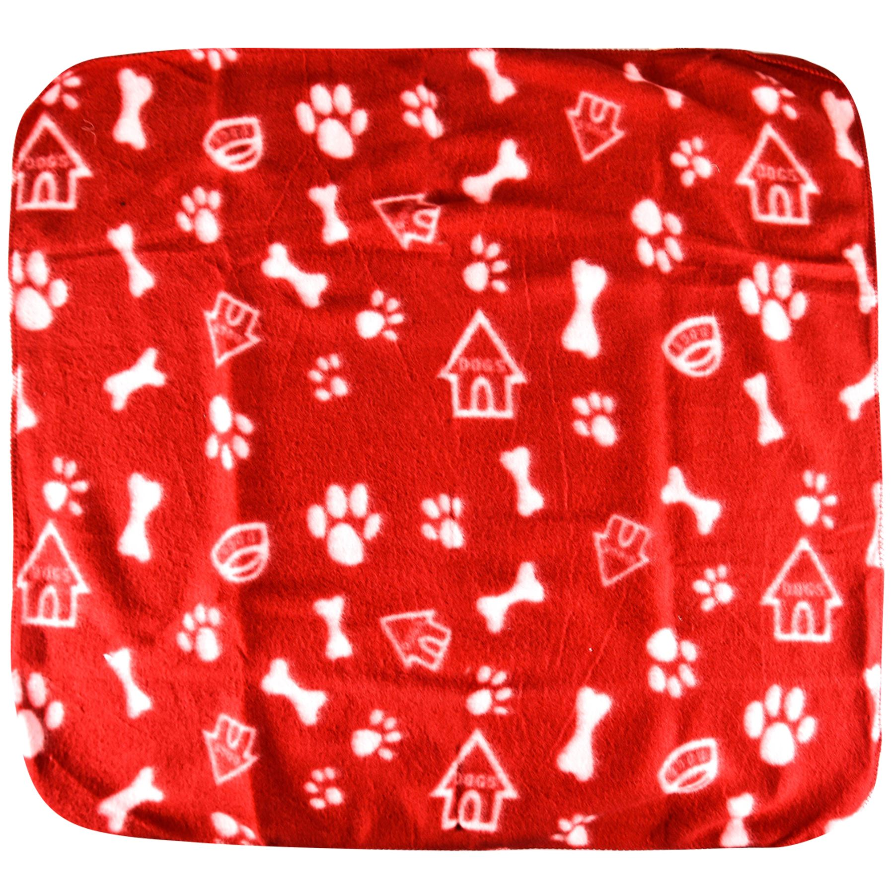 Pet-Blanket-Dogs-amp-Puppy-Cat-Paw-Print-Soft-Warm-Fleece-Bed-Travel-Basket-Car thumbnail 28