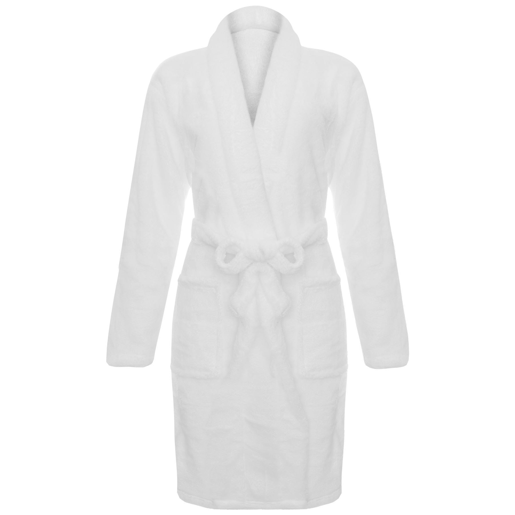 Ladies Luxury Soft Fleece Plush Bathrobe Dressing Gown Shower ...