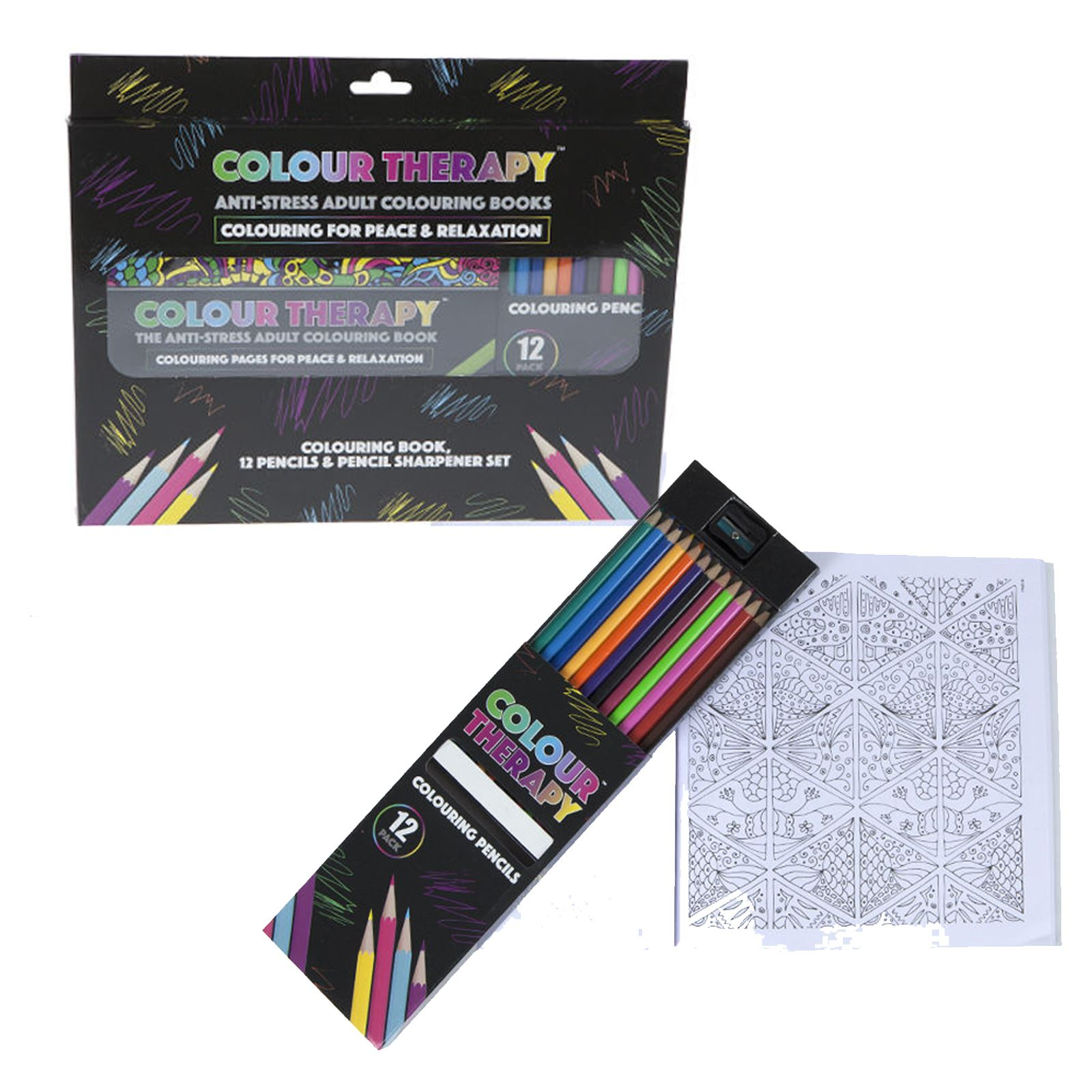 Colour therapy for relaxation - New Colour Therapy Adult Colouring Books Anti Stress