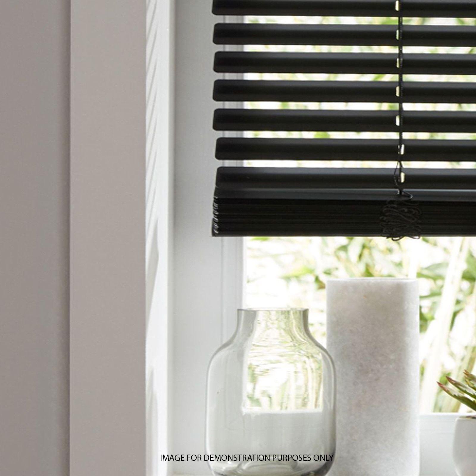 Details About Pvc Venetian Blinds Window Blind In Black Cream White Or Wooden Grain Effect Uk