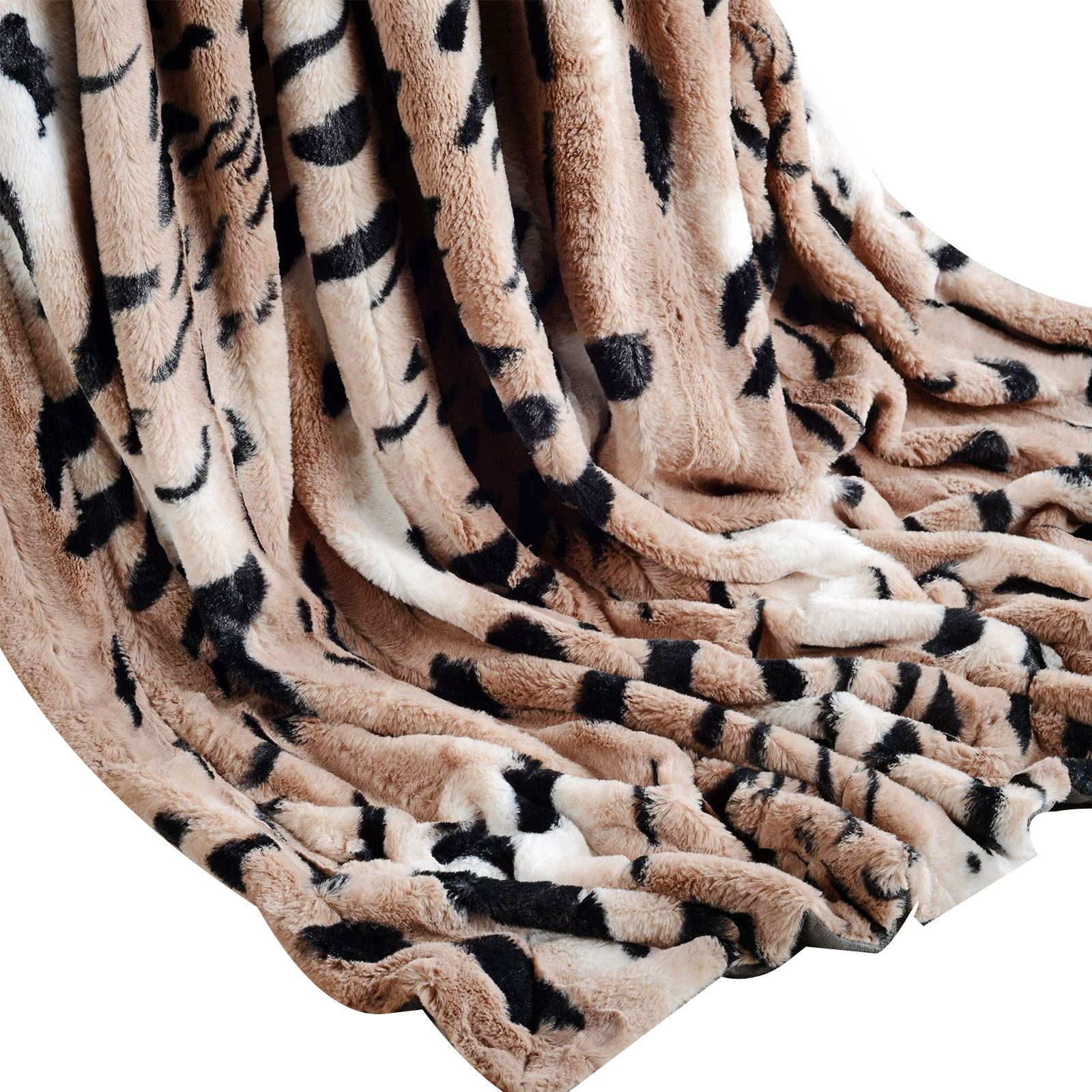 Luxury Super Soft Blanket Throw Faux Fur Sofa Bed Flannel