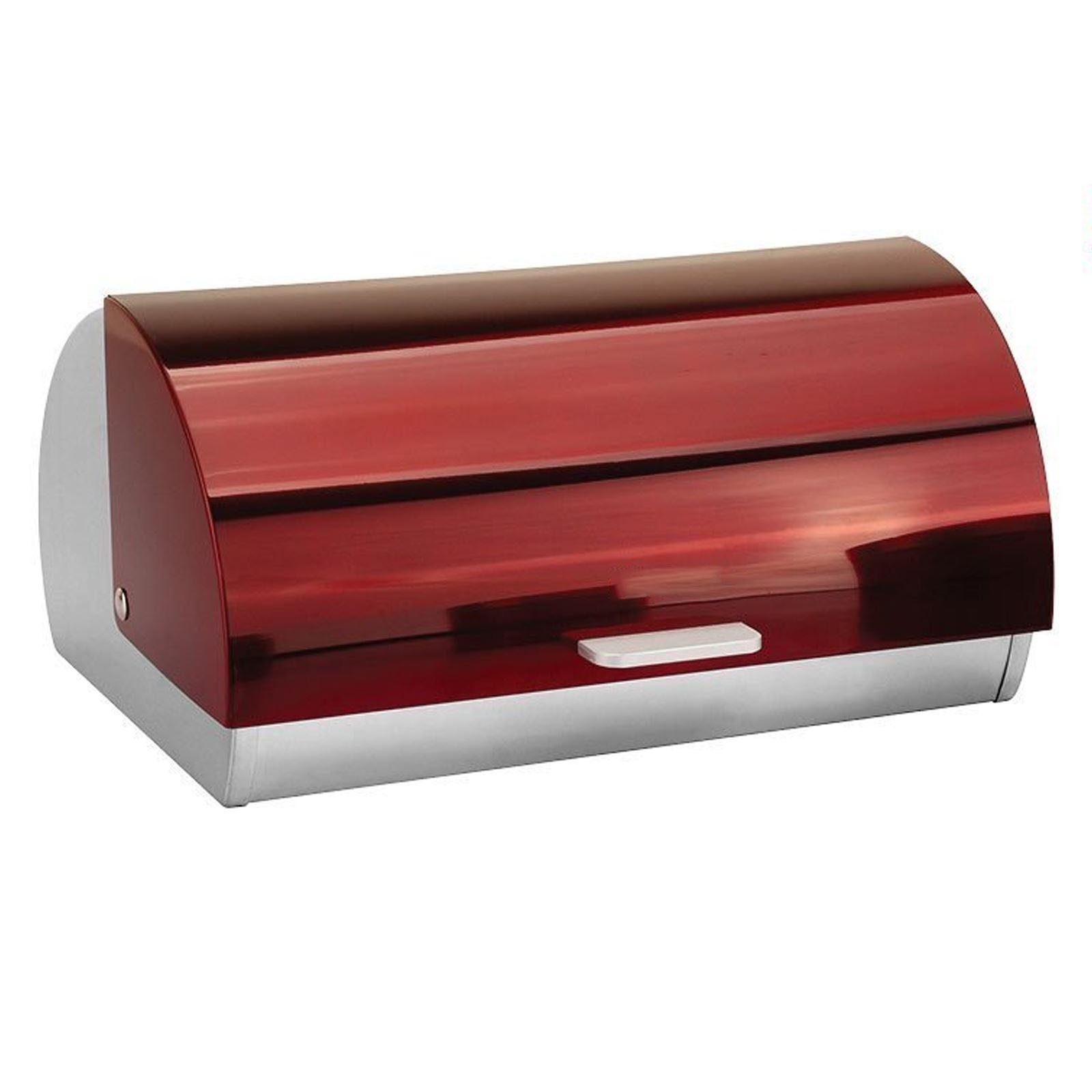 Metallic-Roll-Top-Bread-Bin-Tea-Coffee-Sugar-Jar-Canister-Sets-Kitchen-Storage thumbnail 25