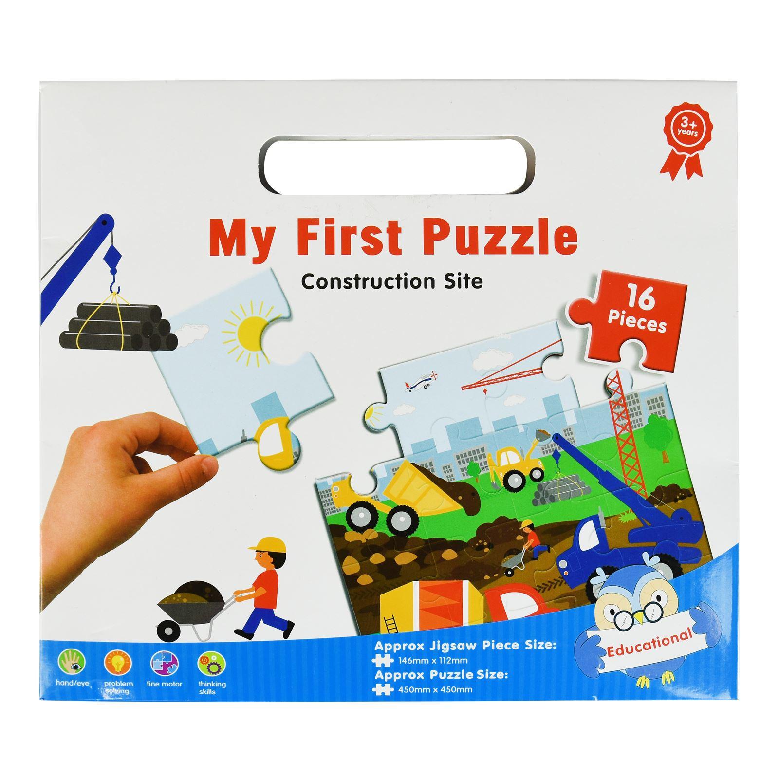 16pc-Mon-Premier-Puzzle-Enfants-educatif-Problem-Solving-jeu-jouet miniature 4