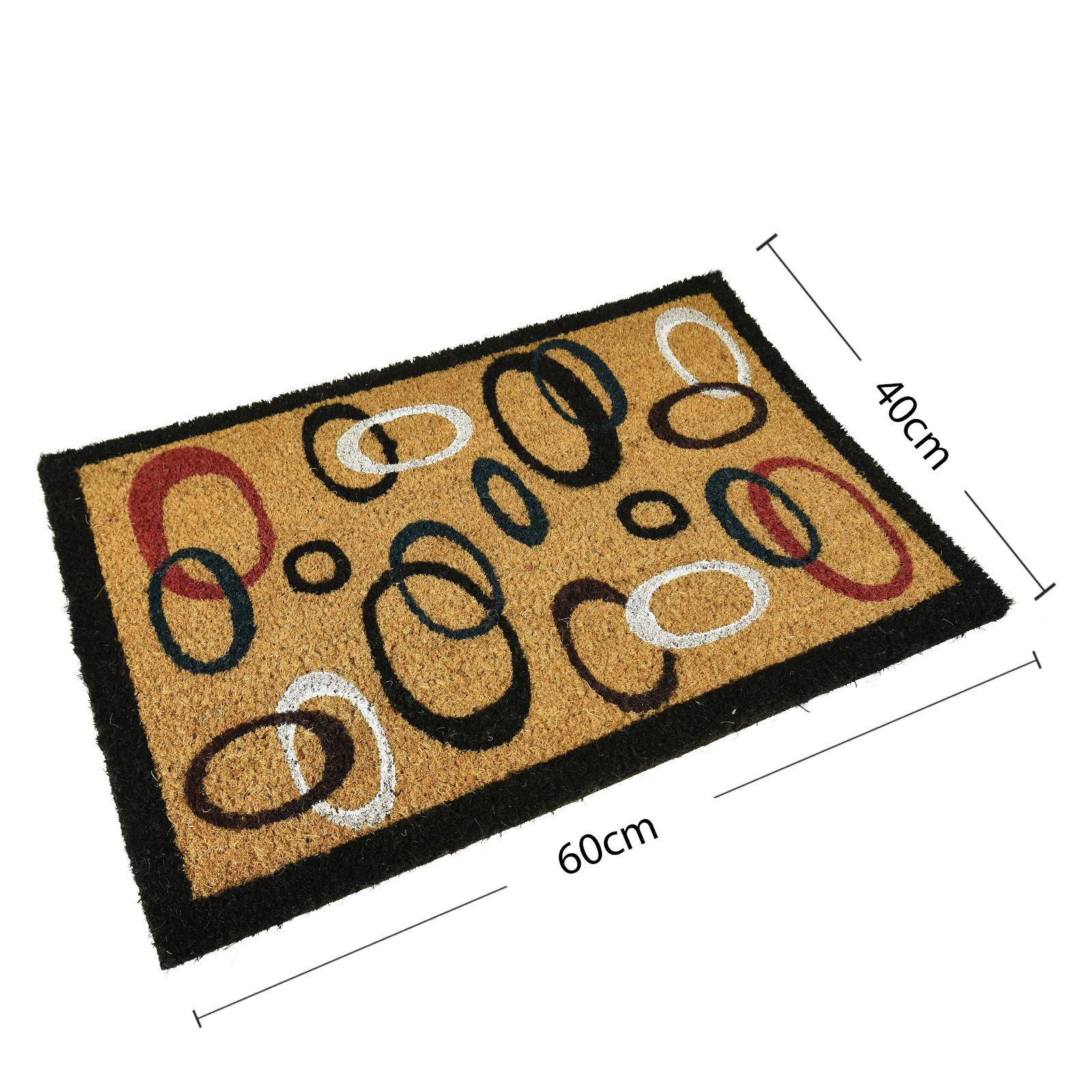 Plain-Non-Slip-Door-Mat-Tough-Natural-Coir-PVC-Back-Welcome-Doormat-40-x-60cm miniatura 32