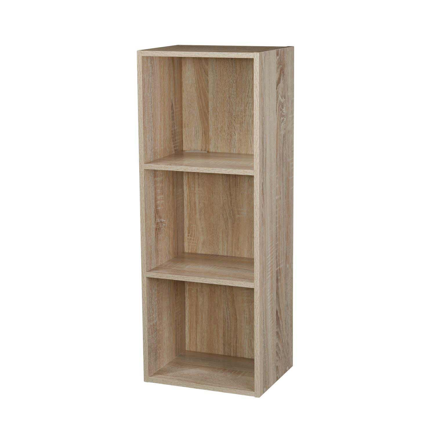 Wooden-Storage-Unit-Cube-2-3-4-Tier-Strong-Bookcase-Shelving-Home-Office-Display thumbnail 12