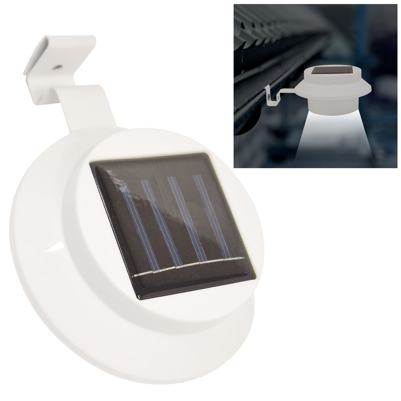 Solar Lights Roof: Twin Pack Solar Power LED Gutter Spot Light Outdoor Garden