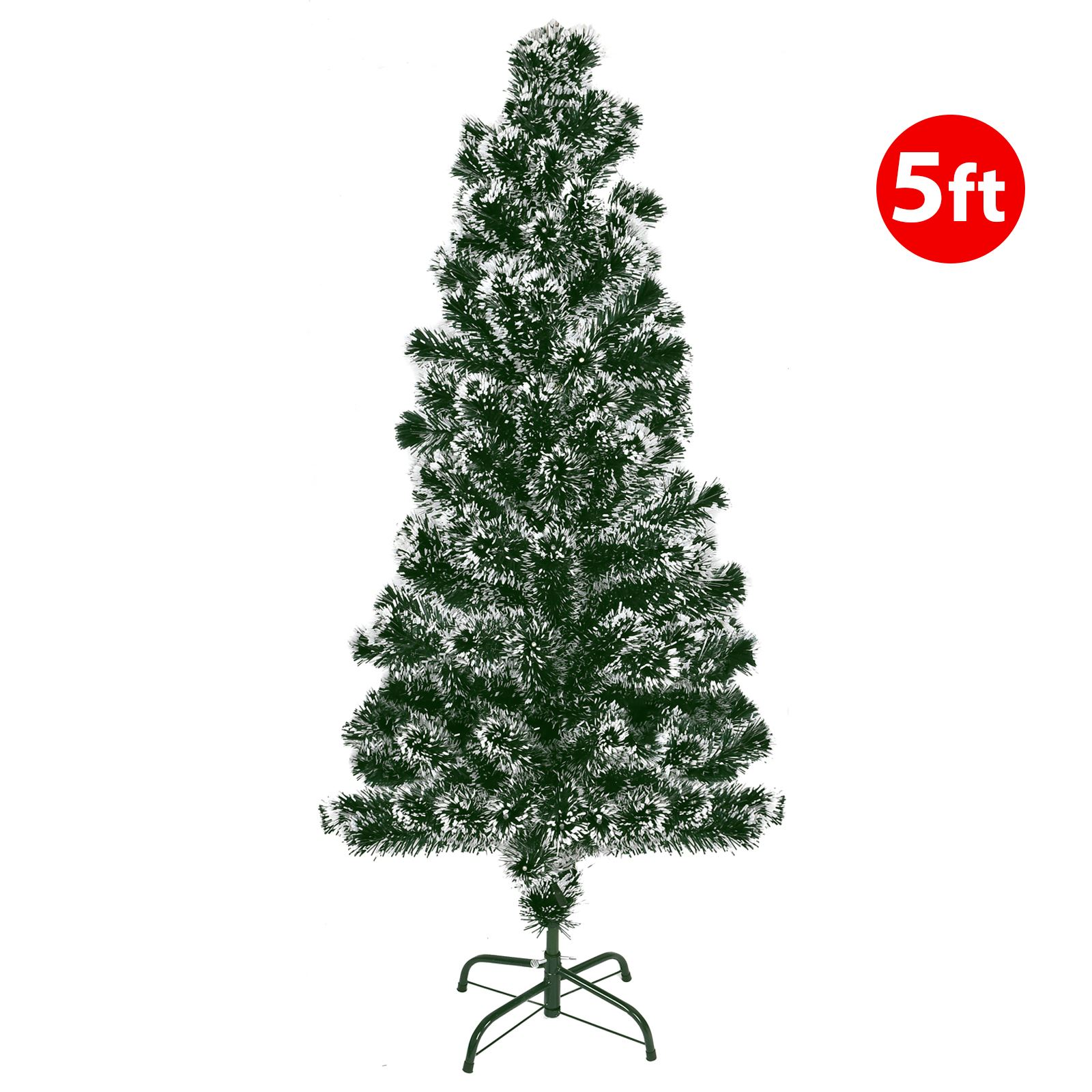 Realistic-Green-Christmas-Trees-2-4-5-6-7ft-Xmas-Festive-Decoration-Snow-Tipped