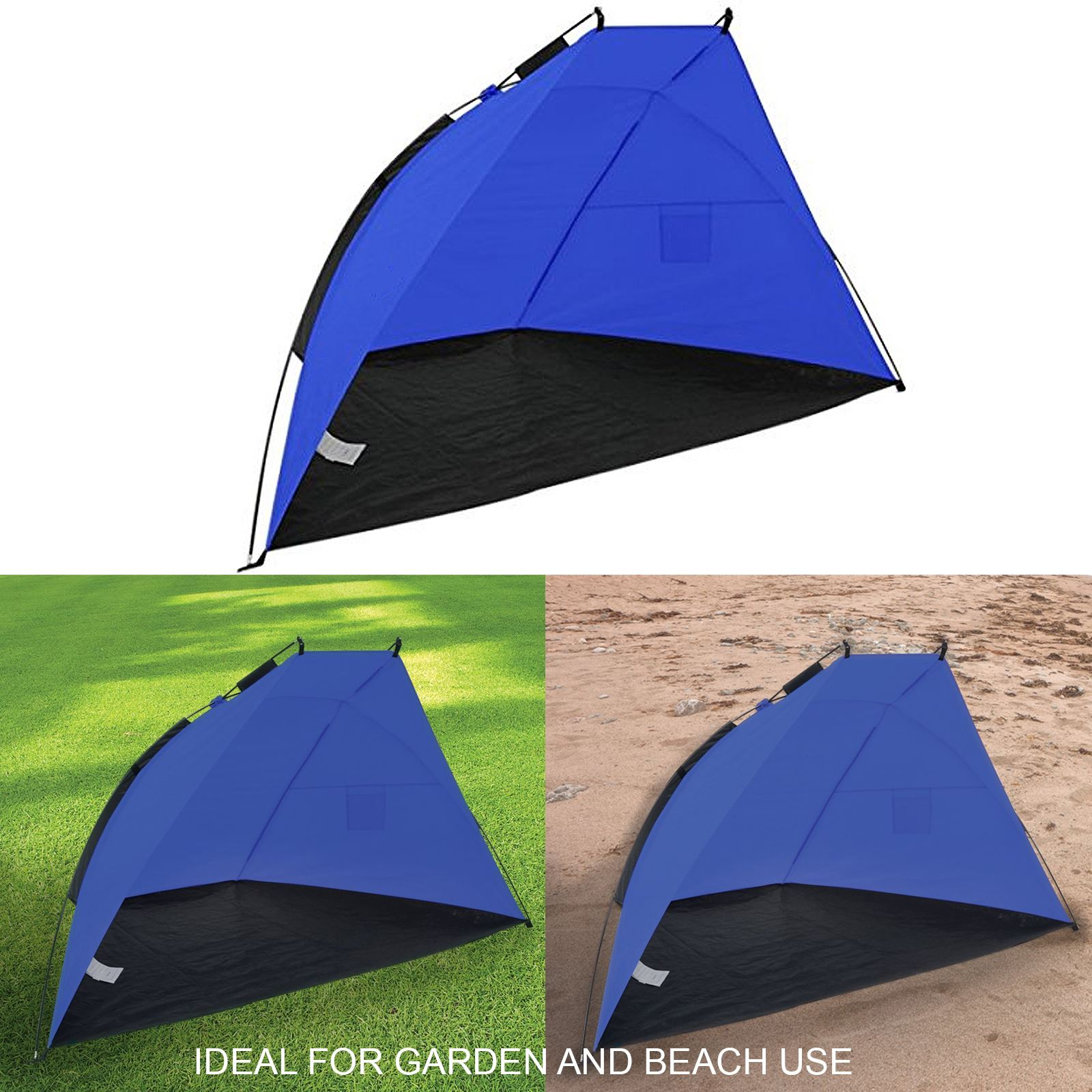 beach shelter wind break canopy uv sun shade tent festival camping screen. Black Bedroom Furniture Sets. Home Design Ideas