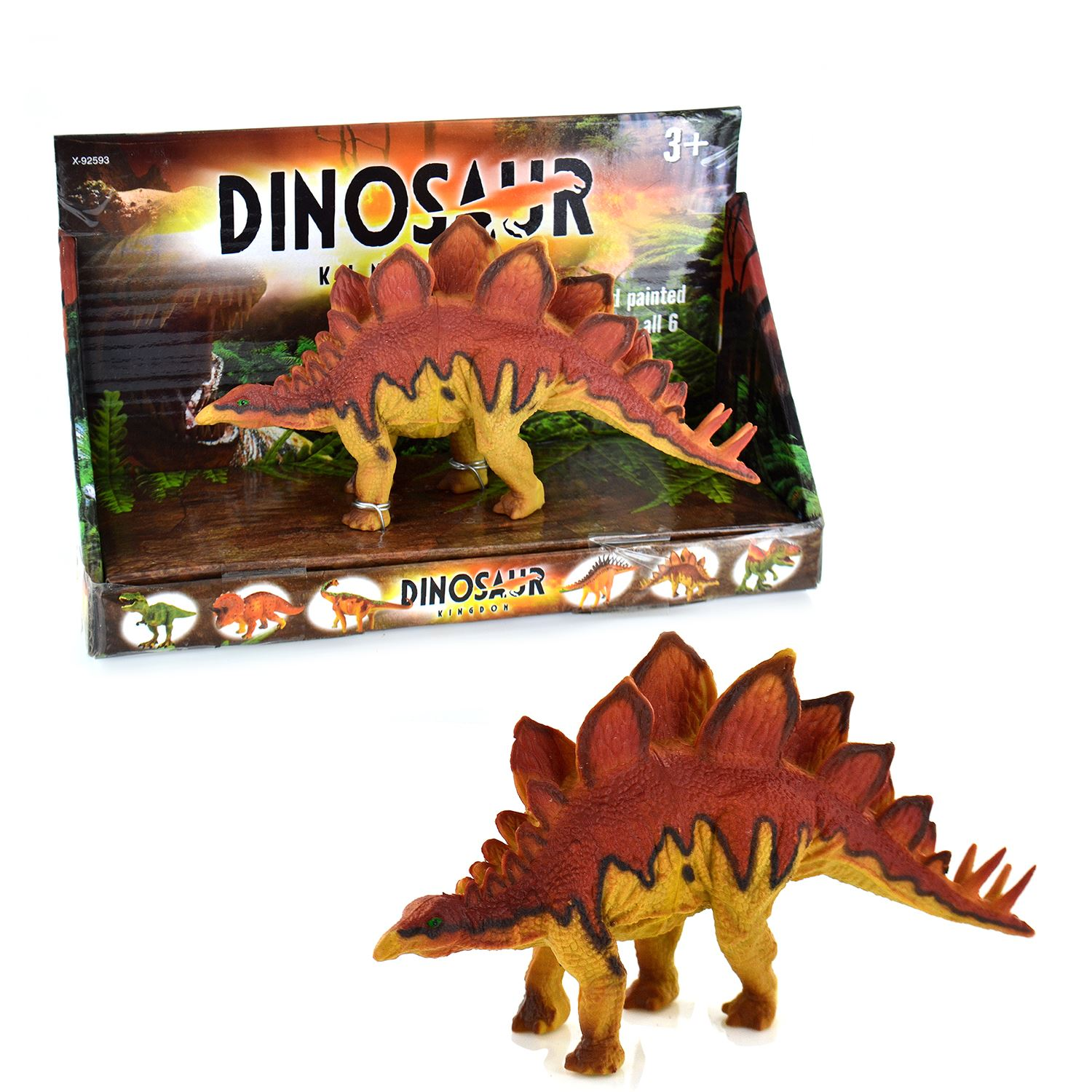 6 Dinosaur Playset Toy Animal Action Figures Set Model Kids Jungle