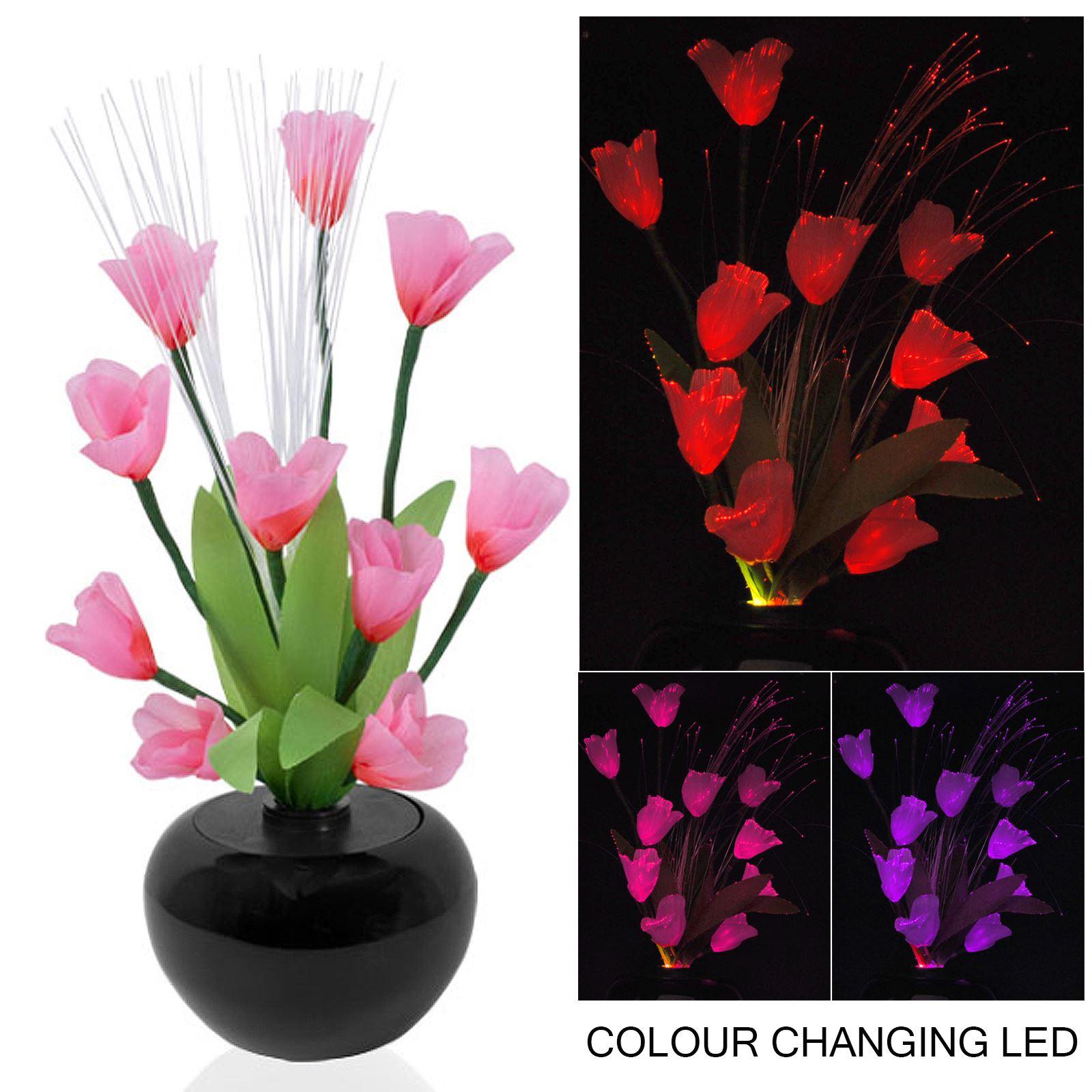 RGB Colour Changing Flower Vase Mood Light Display