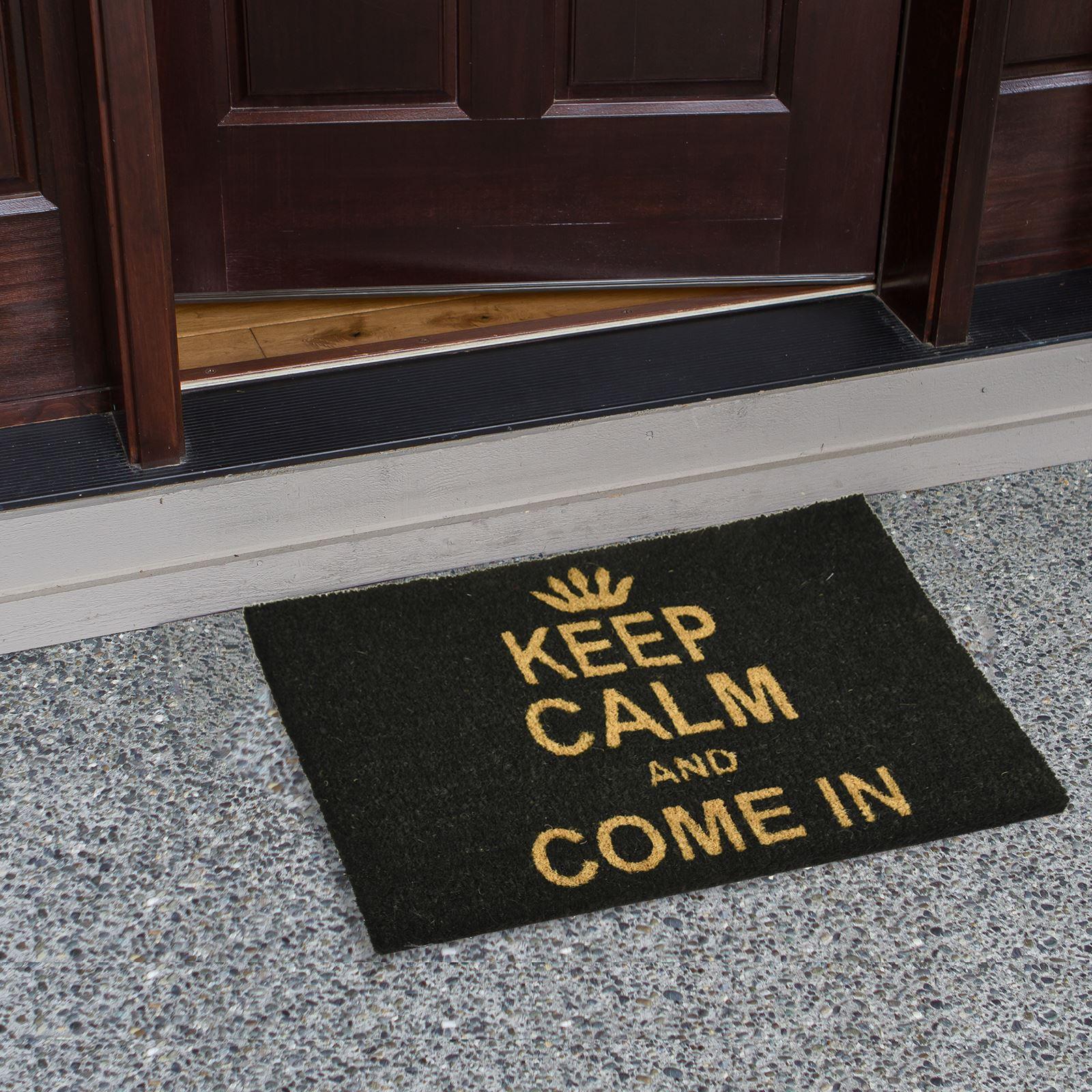 Plain-Non-Slip-Door-Mat-Tough-Natural-Coir-PVC-Back-Welcome-Doormat-40-x-60cm miniatura 74