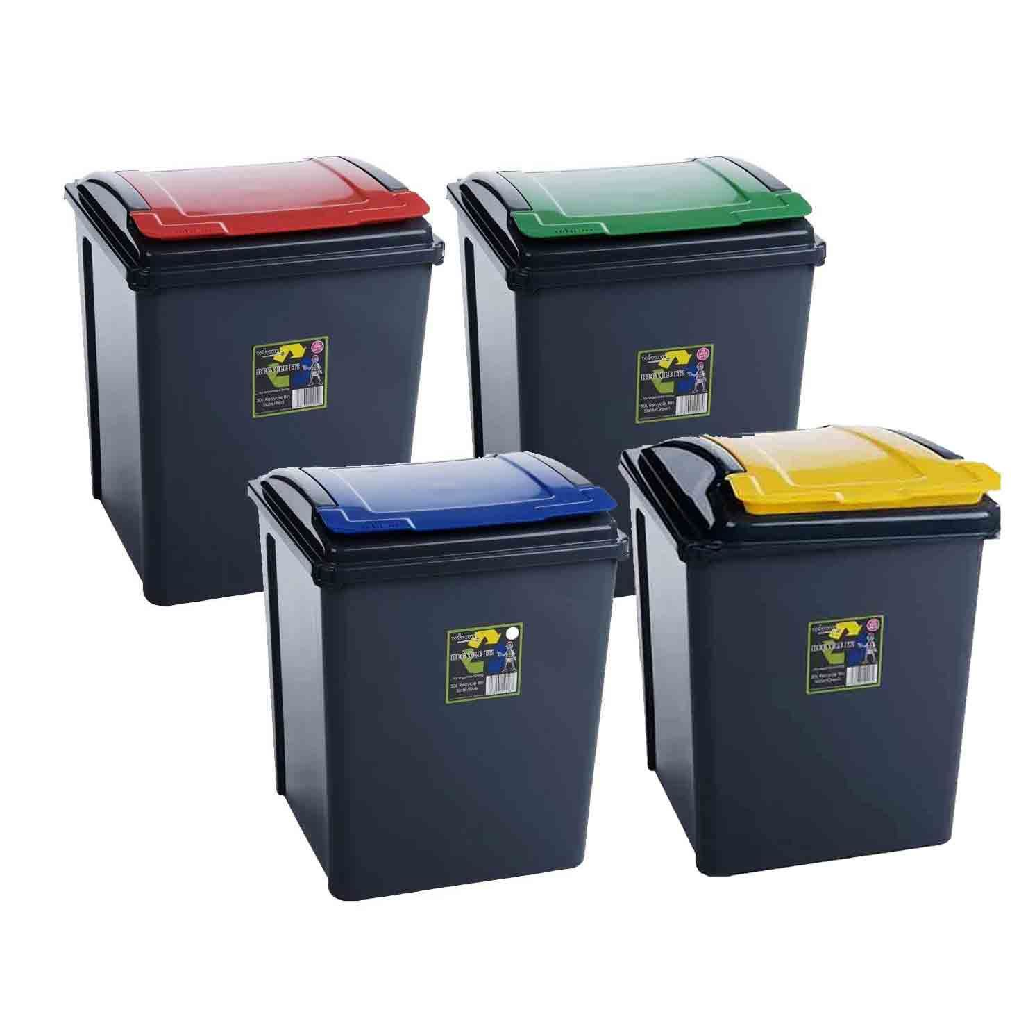 Superieur 25L 50L Plastic Recycle Recycling Bin Lid Kitchen