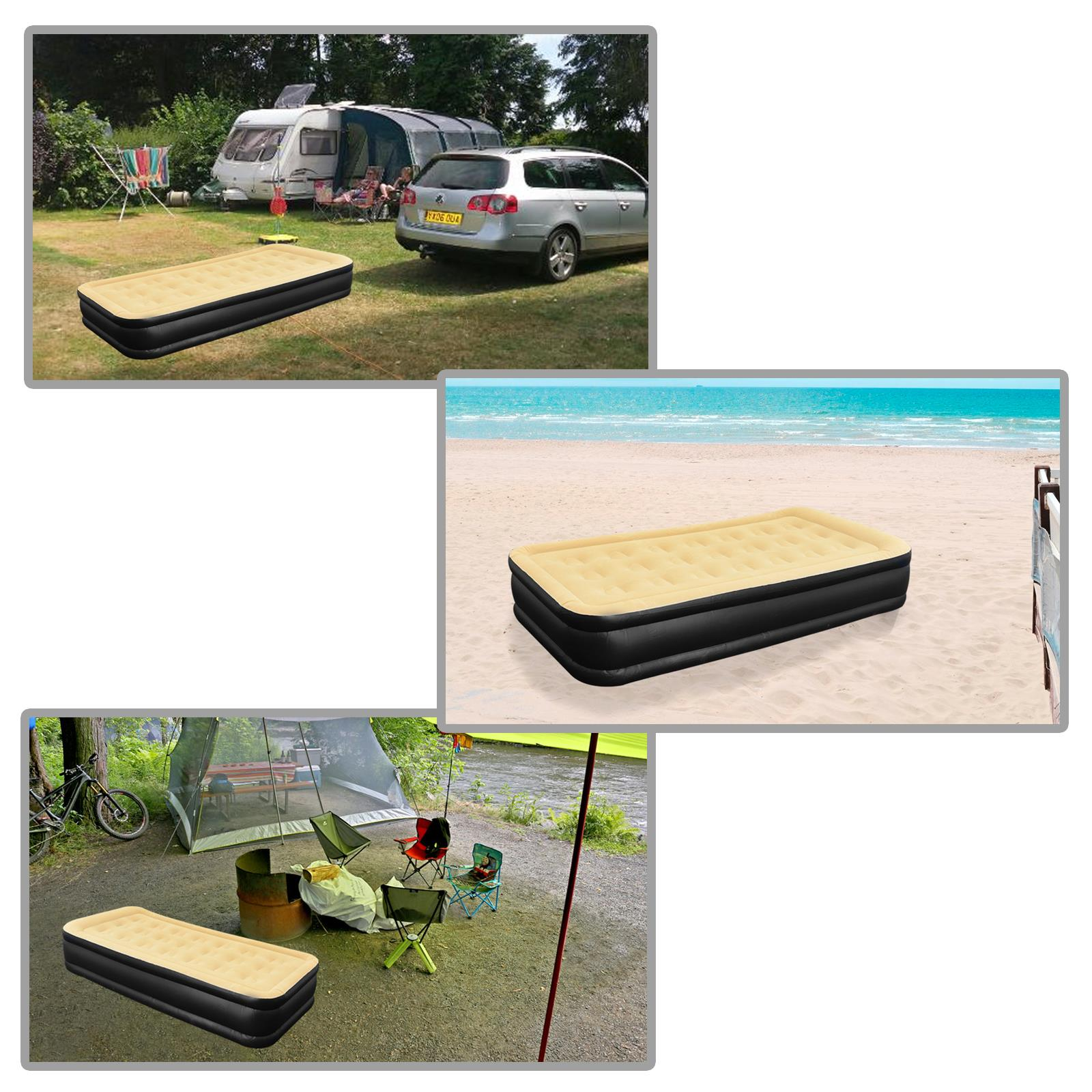 Jilong-Luxury-Air-Bed-Mattress-Soft-Flocked-Inflatable-Relaxing-Airbed-Camping thumbnail 9