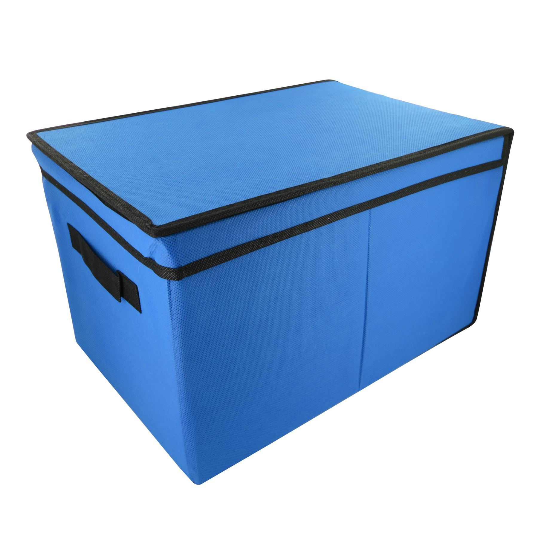 Home Bedroom Tote Canvas Storage Toy Box Foldable Lid