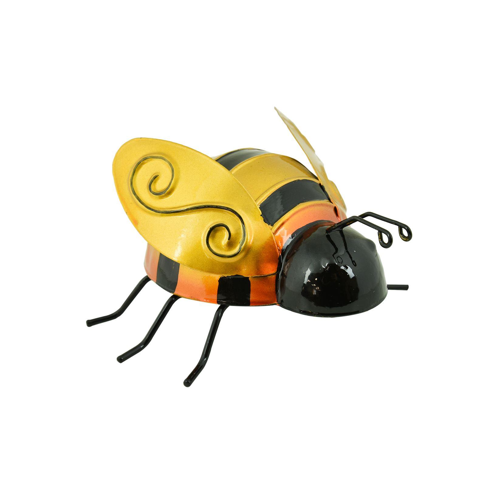 Metal Insect Garden Statues Ornament Bee Ladybird Bug Outdoor Wall ...