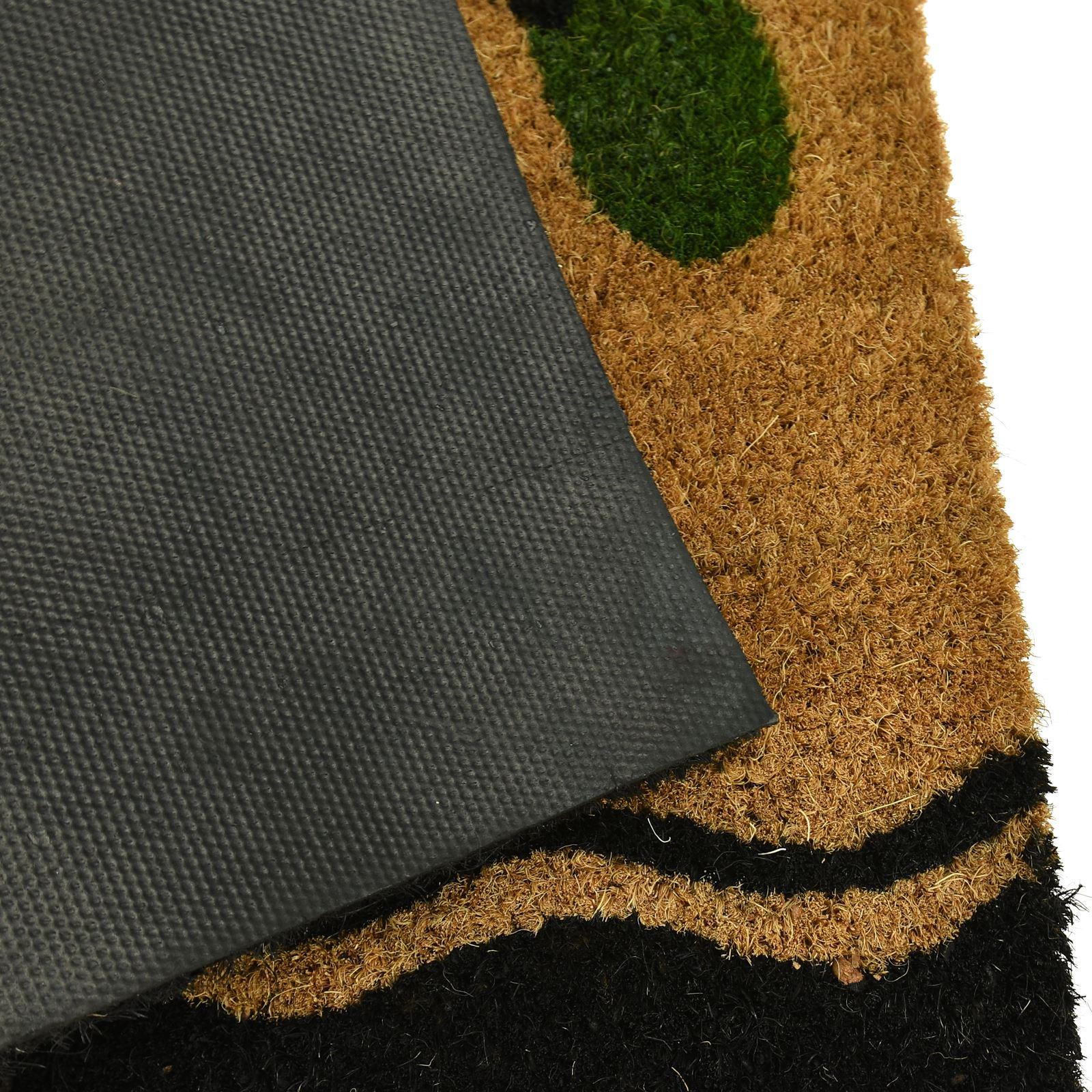 Plain-Non-Slip-Door-Mat-Tough-Natural-Coir-PVC-Back-Welcome-Doormat-40-x-60cm miniatura 46