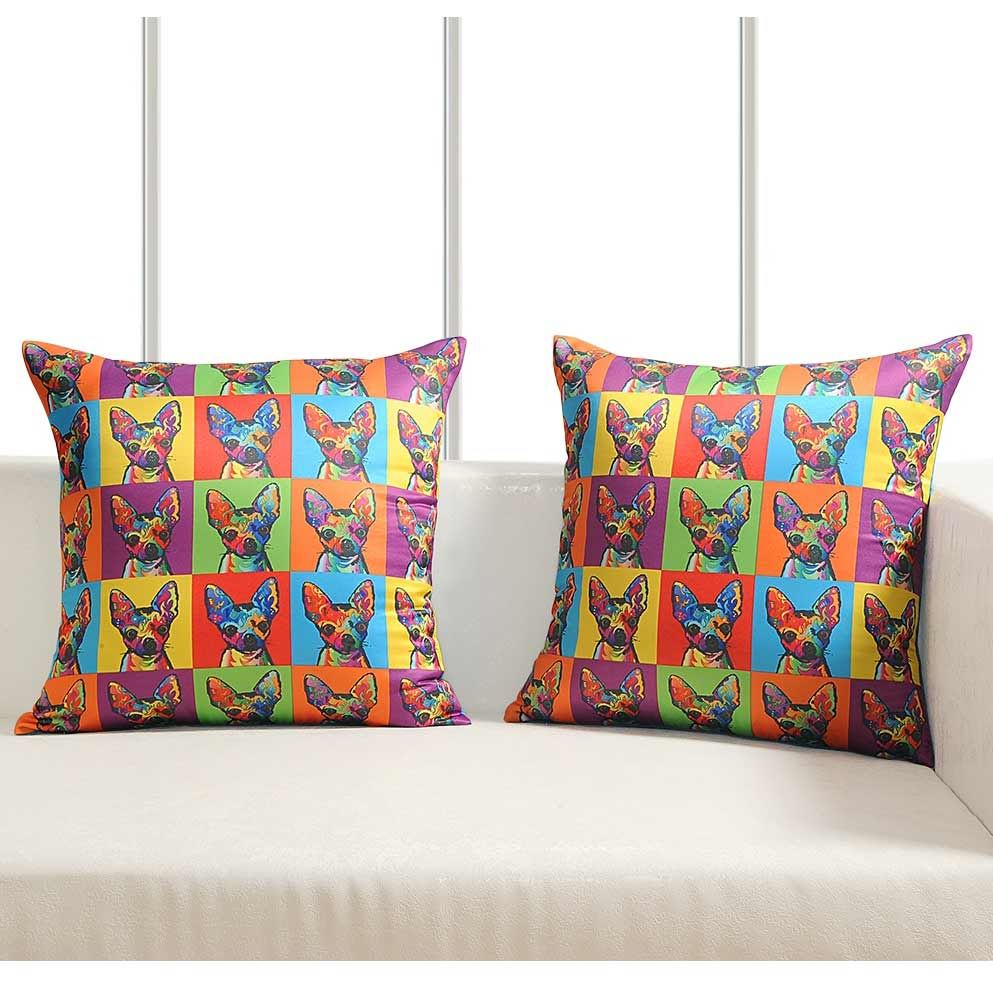 Luxury-Cushion-Covers-Retro-Pop-Art-Design-Digital-Printed-Square-Pillow-Case thumbnail 4