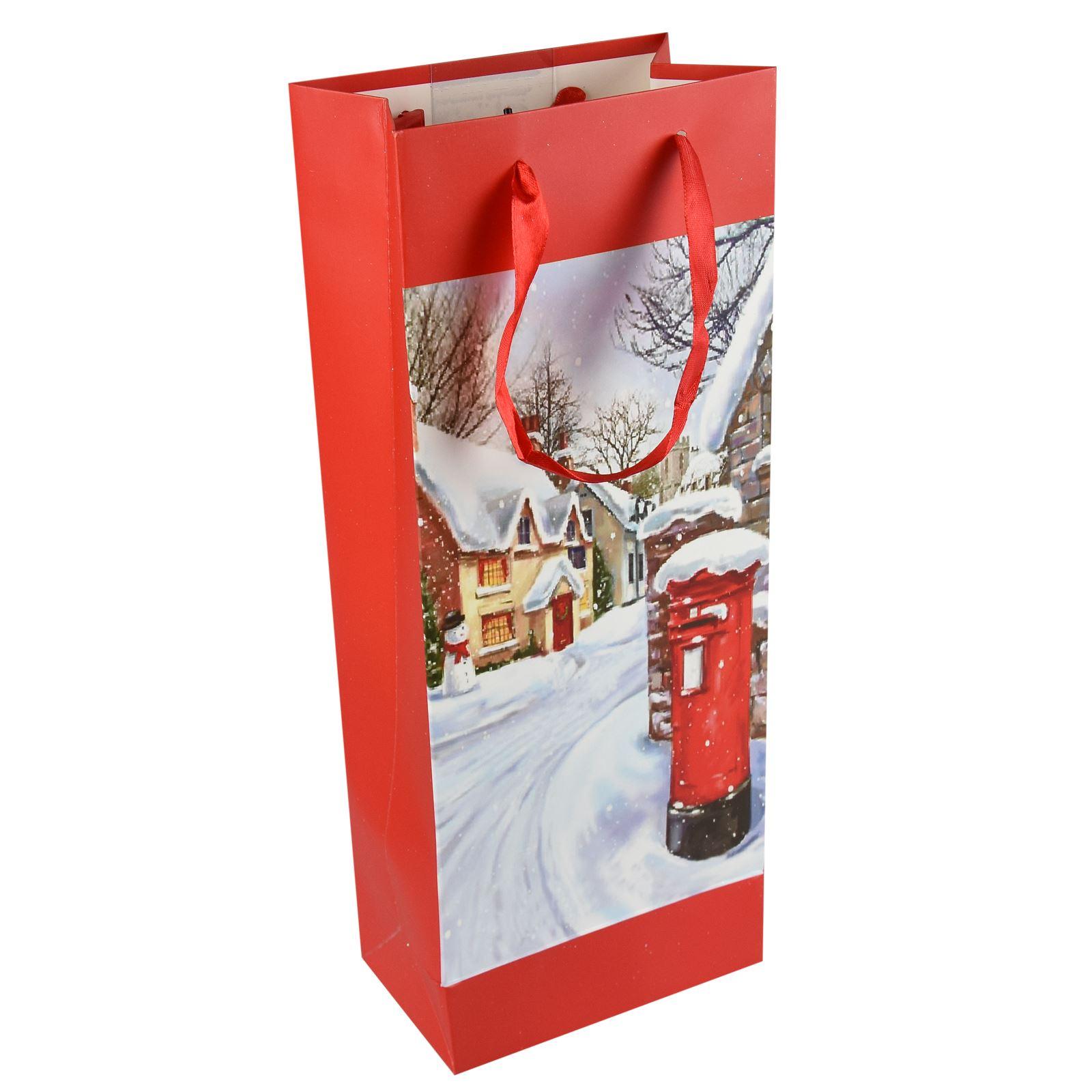 Tradizionale-Regalo-di-Natale-Borse-Regalo-Natale-Inverno-Glitter-Design-Paper-Carrier miniatura 5