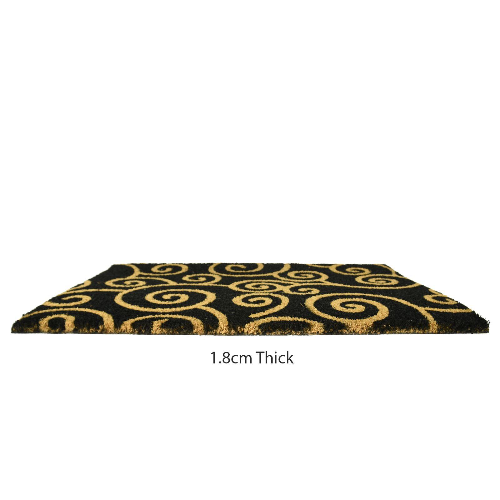 Plain-Non-Slip-Door-Mat-Tough-Natural-Coir-PVC-Back-Welcome-Doormat-40-x-60cm miniatura 109