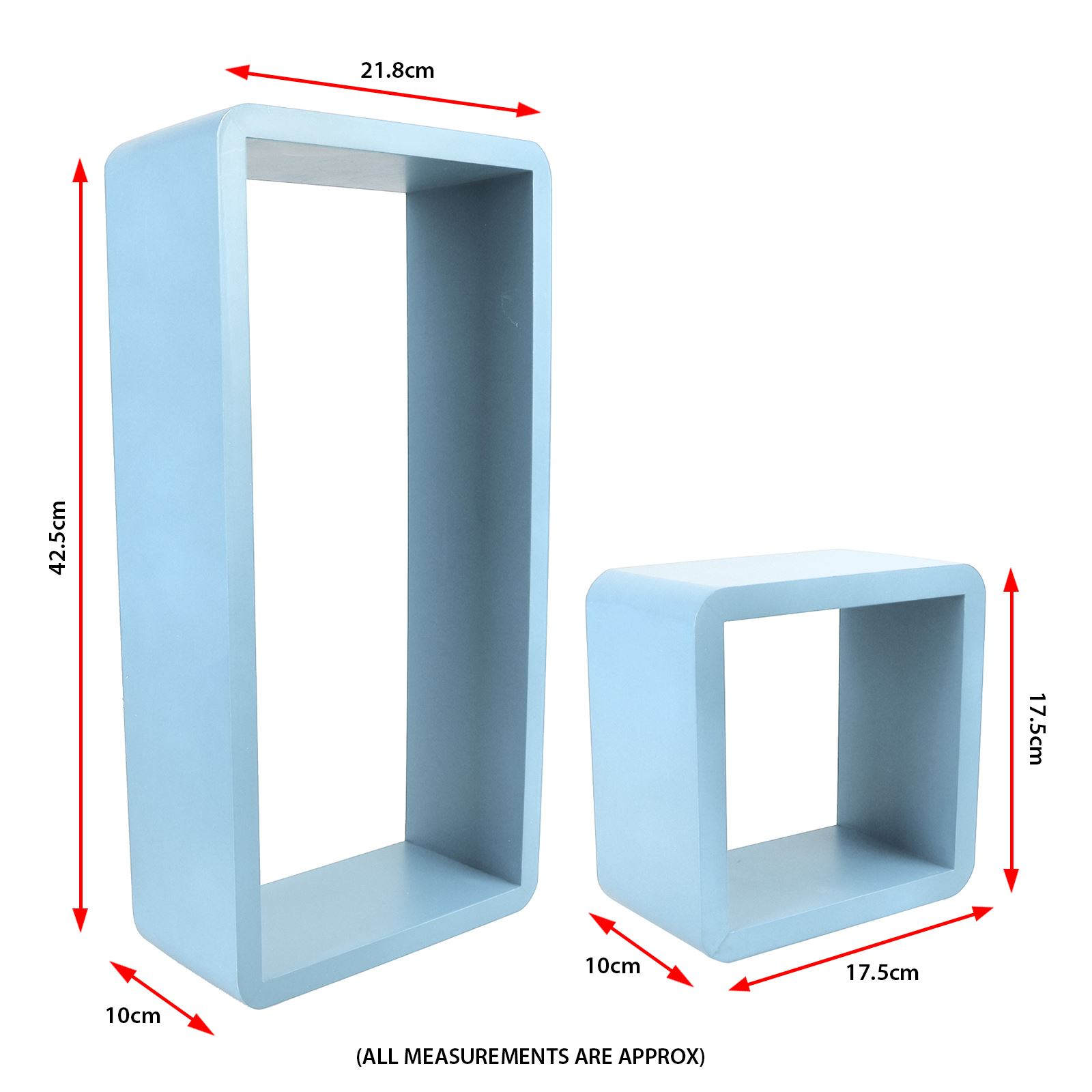 Set Of 3 Rectangle Floating Shelves Wall Storage Book Shelf DVD CD ...