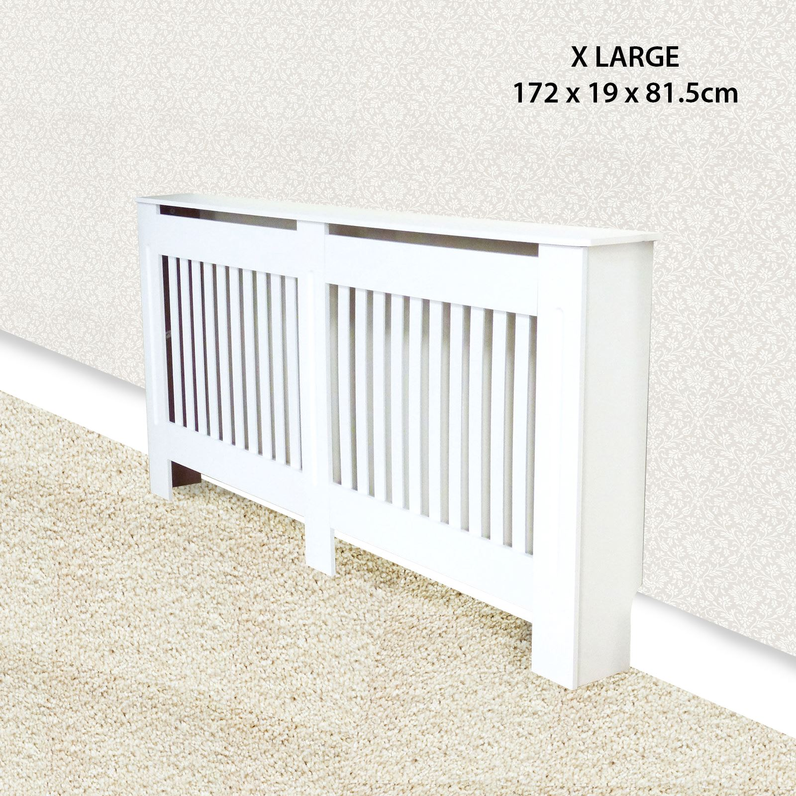 Traditional-Radiator-Cover-Cabinet-Vertical-Slatted-MDF-Wood-Small-Large-Unit thumbnail 7