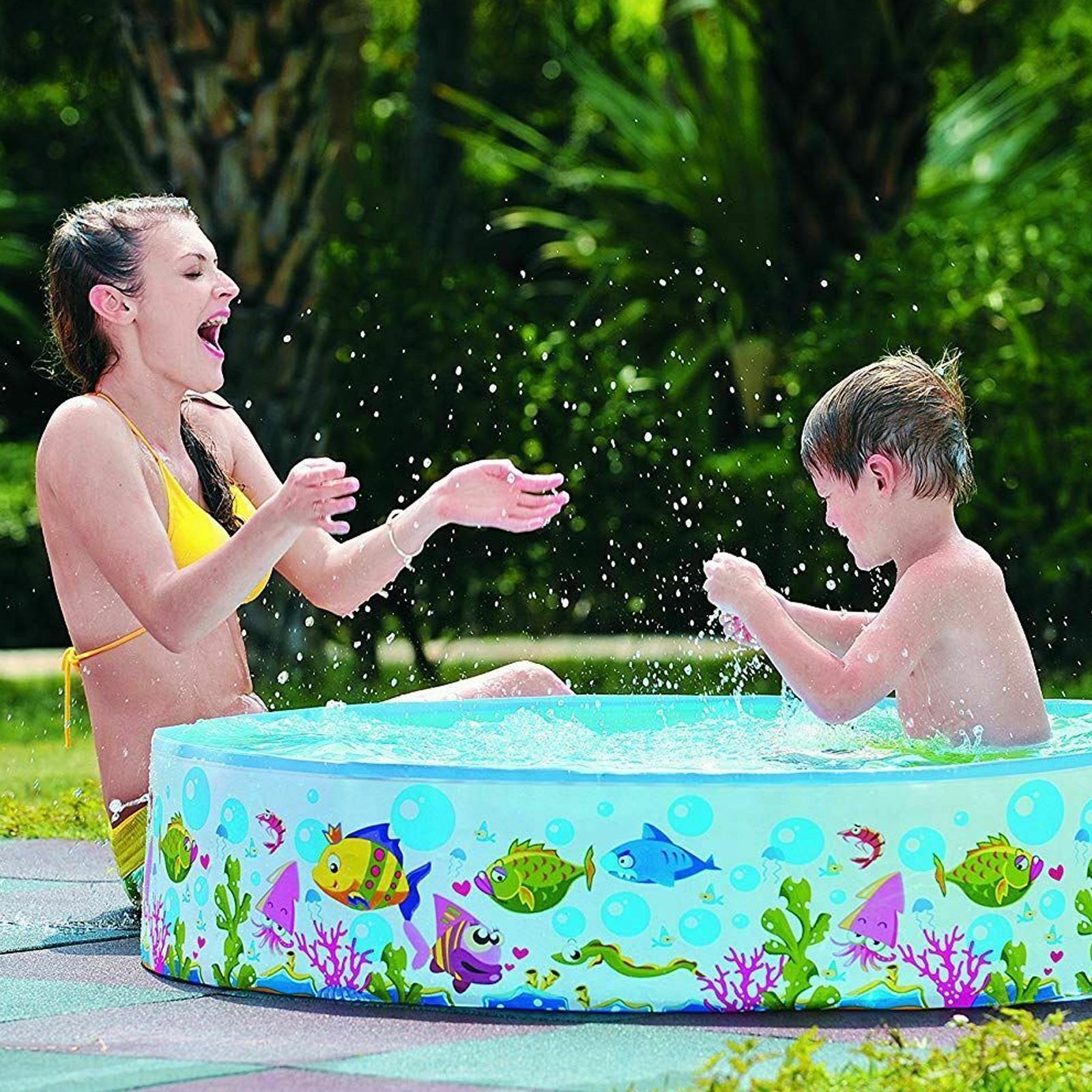 Centro-De-Juegos-De-Natacion-Ninos-Ridgid-Pared-piscina-infantil-Mar-Vida-al-Aire-Libre-diversion miniatura 5