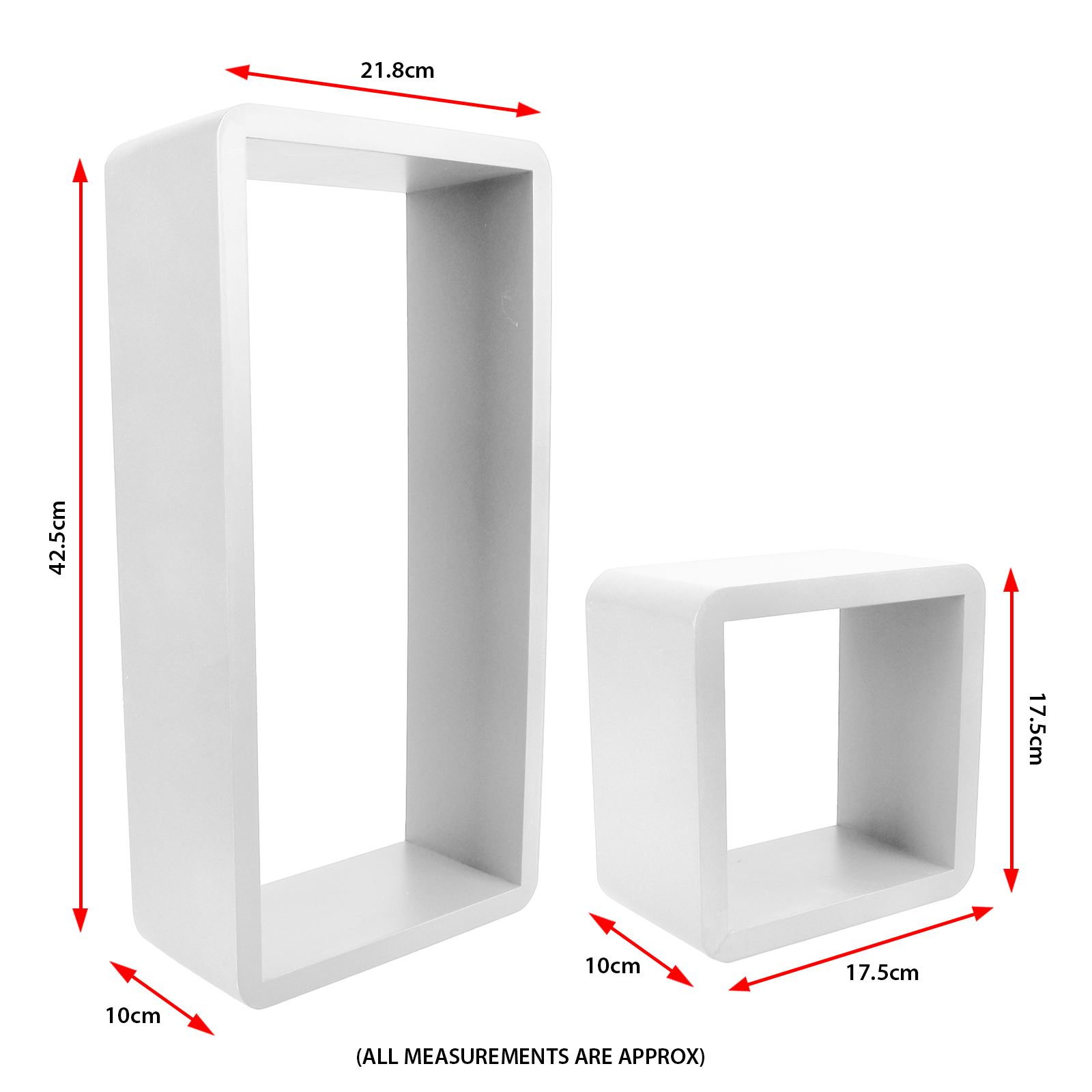 3pc-Set-Rectangle-Floating-Shelves-Wall-Mount-Storage-Book-Shelf-DVD-CD-Stand thumbnail 23