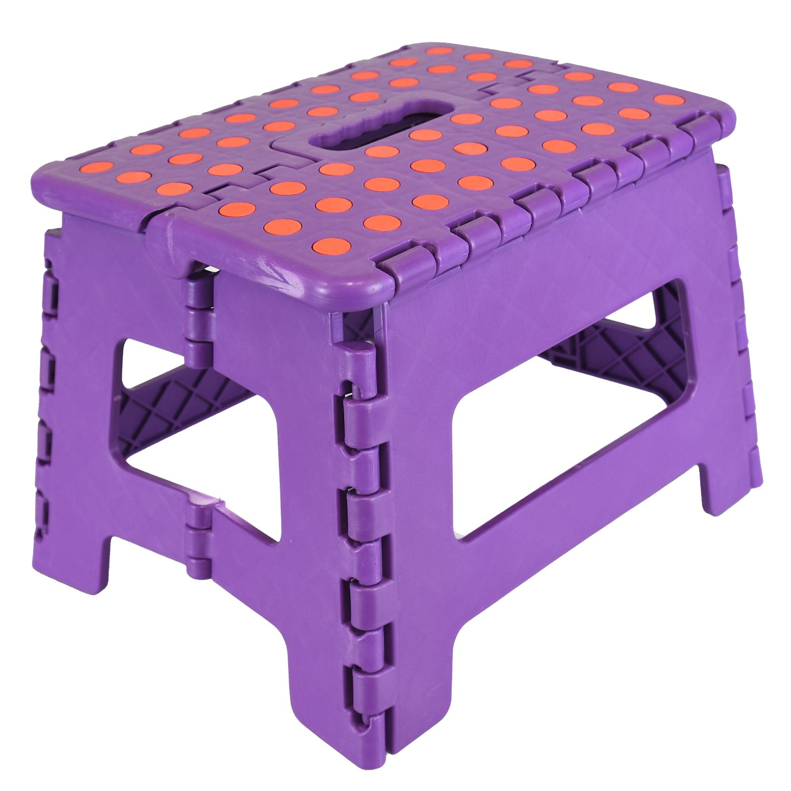 Small Multi Purpose Fold Step Stool Plastic Home Kitchen