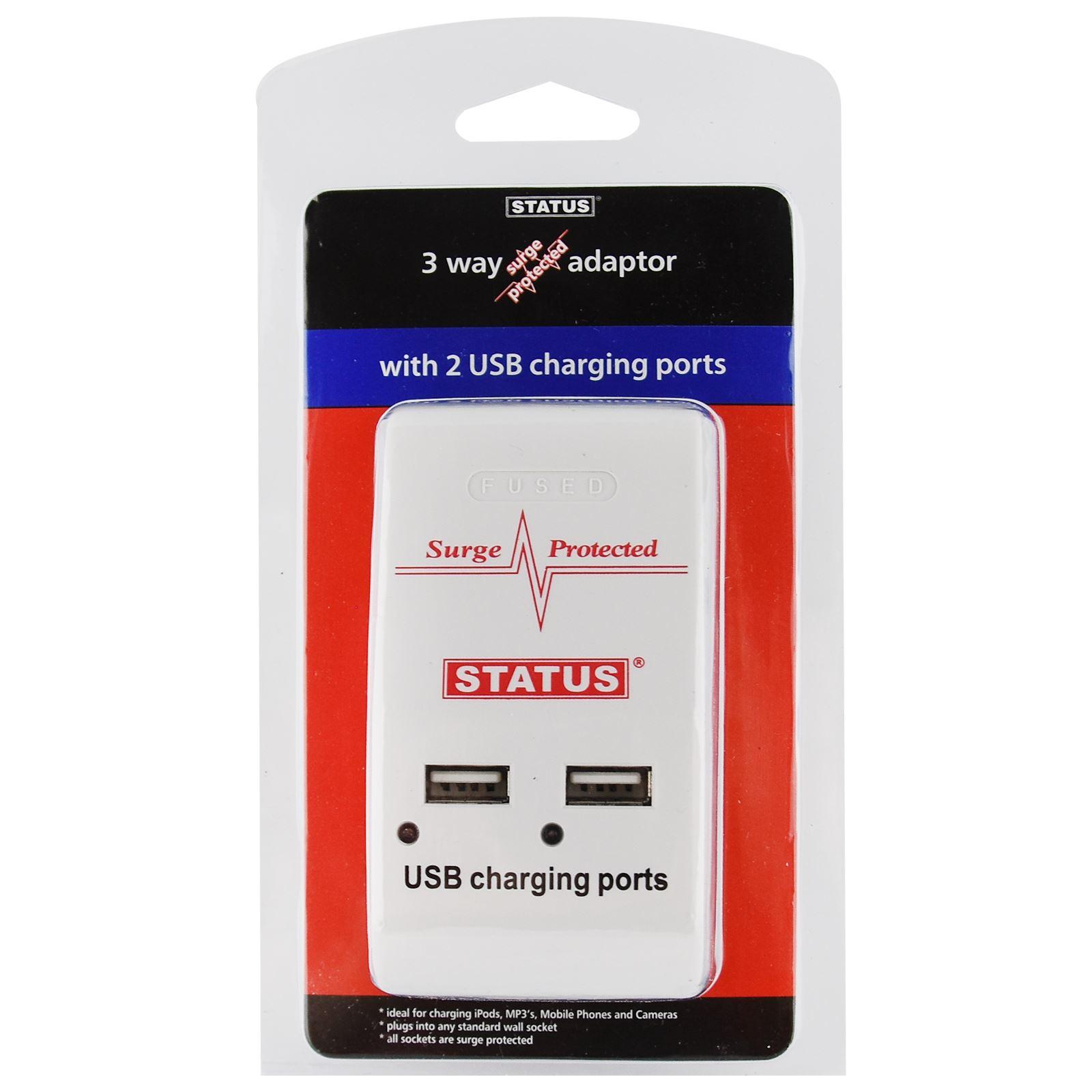Enchufe-Multi-Extension-Lead-2-3-4-5-Gang-Way-Reino-Unido-Toma-De-Corriente-Cable-Adaptadores-De miniatura 7